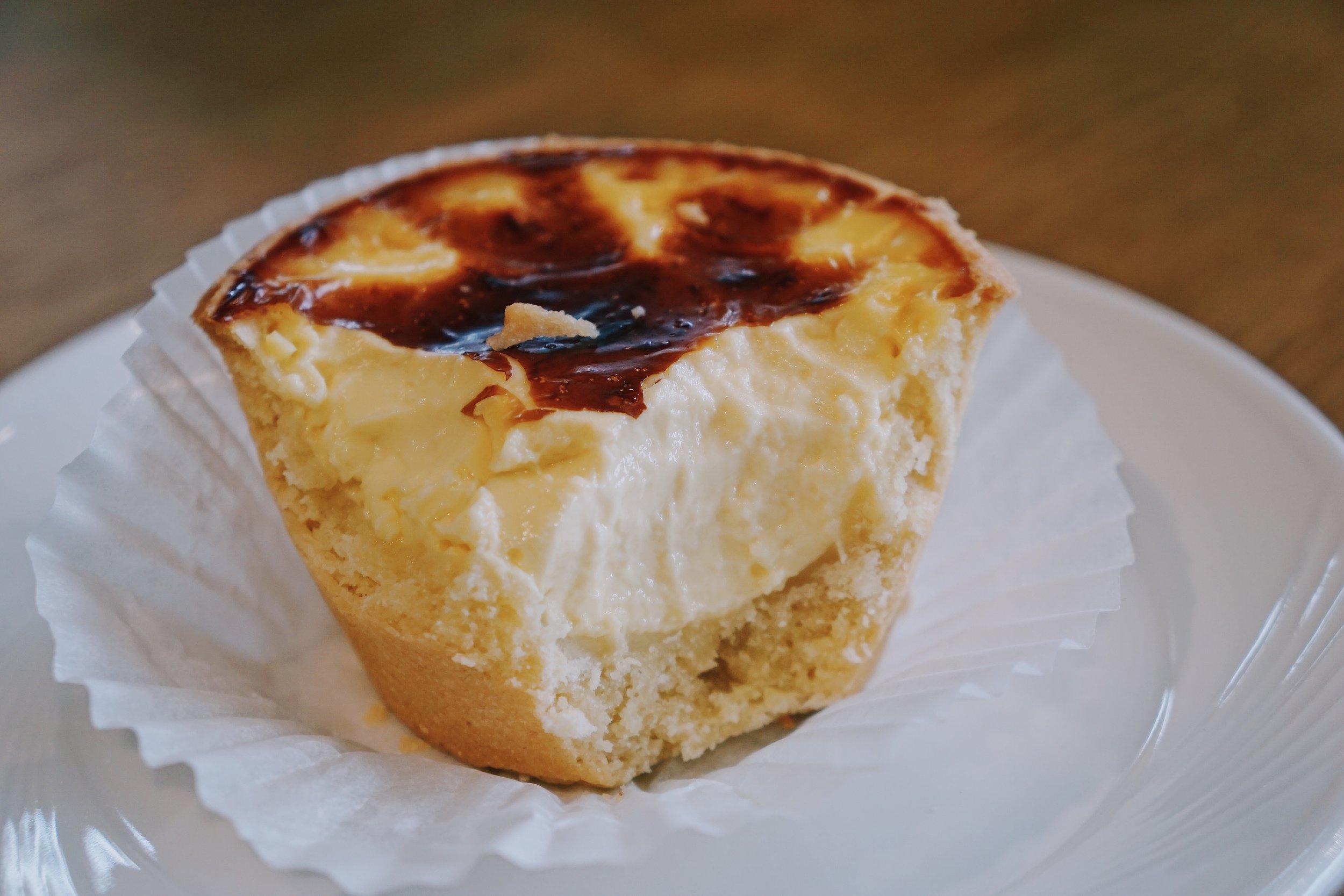 A bakery classic and fail-safe option: egg custard tarts.