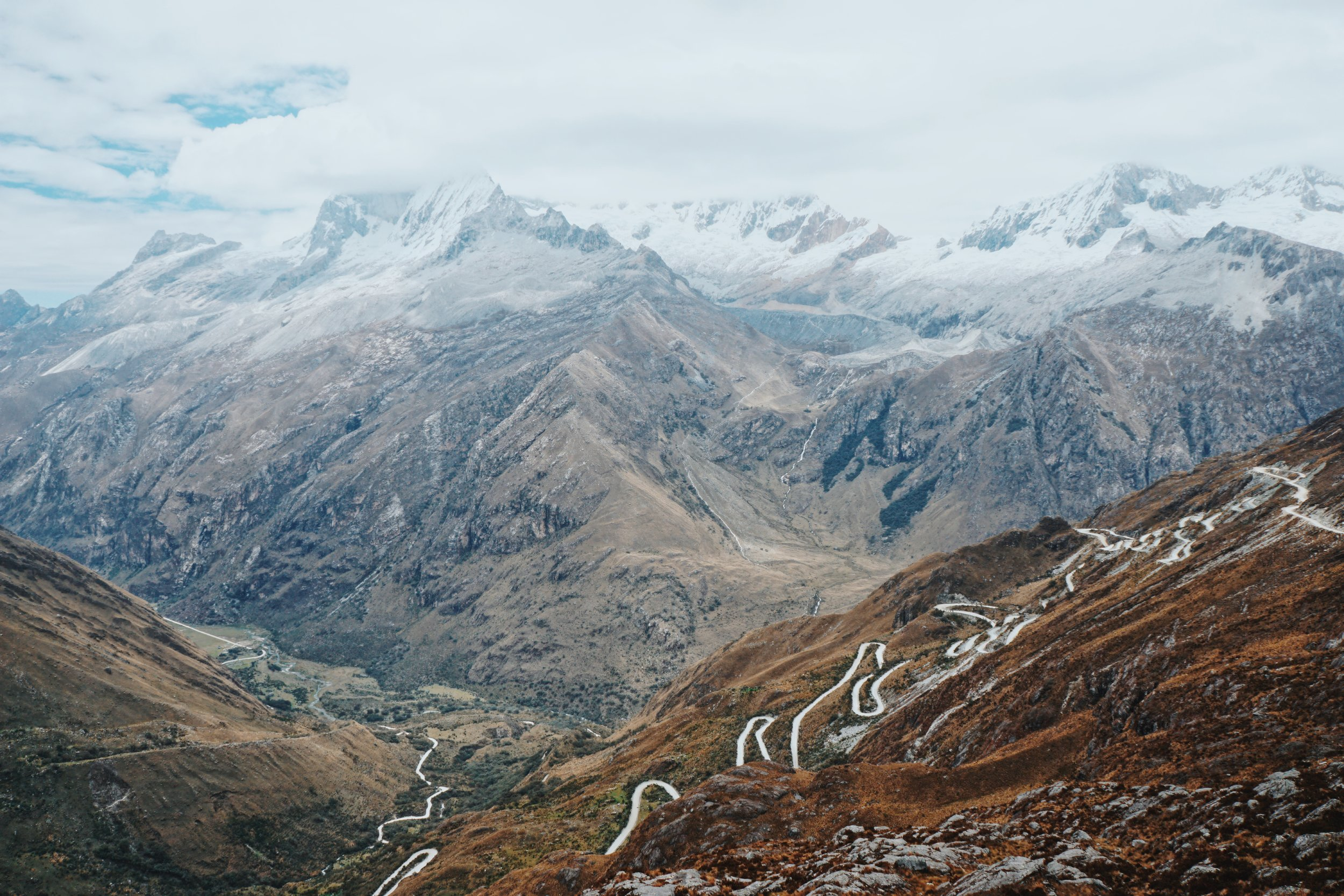 The drive back to Huaraz after 3 nights on the Santa Cruz trek.