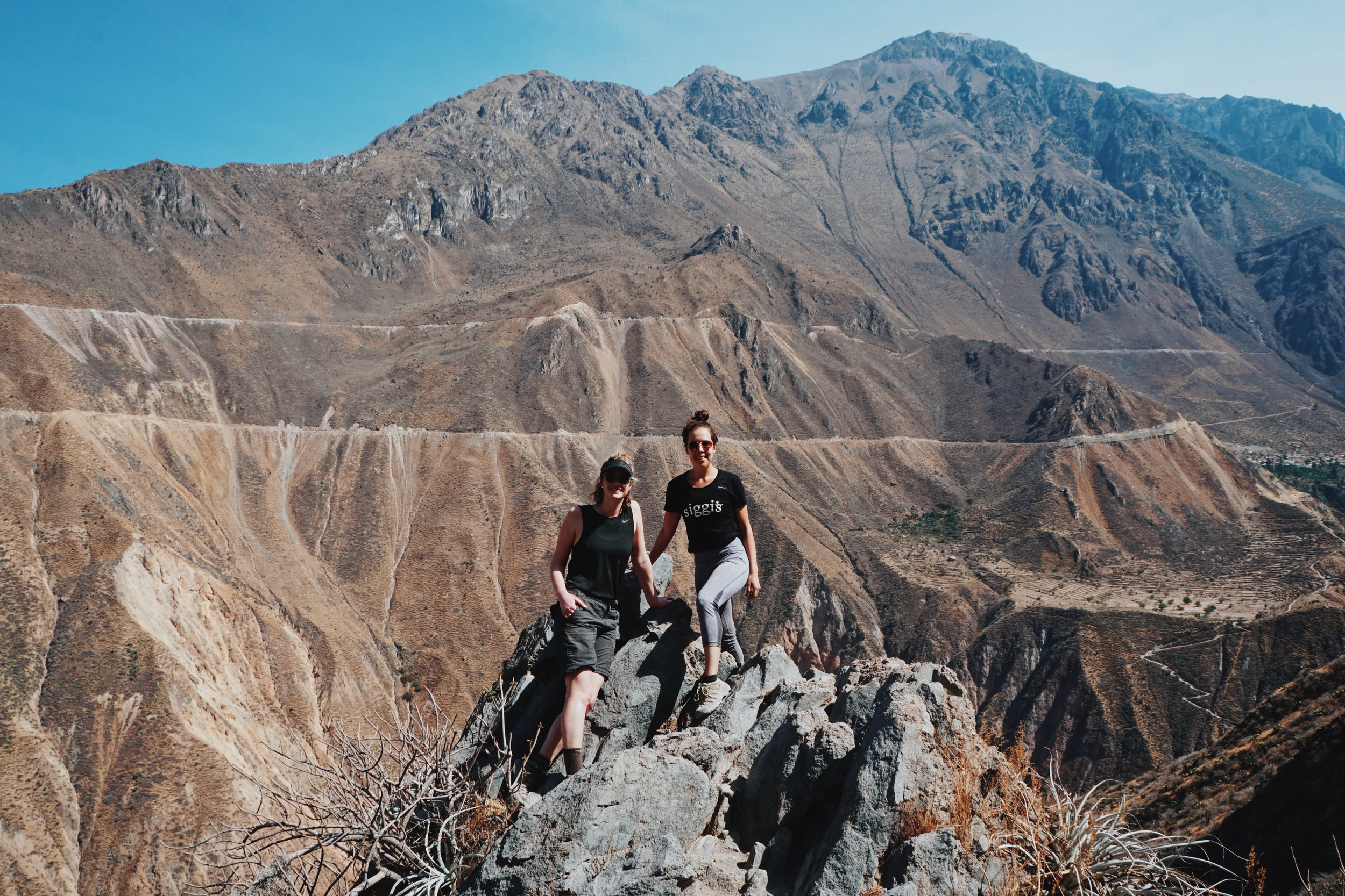 Overnight hiking in Colca Canyon, Peru.