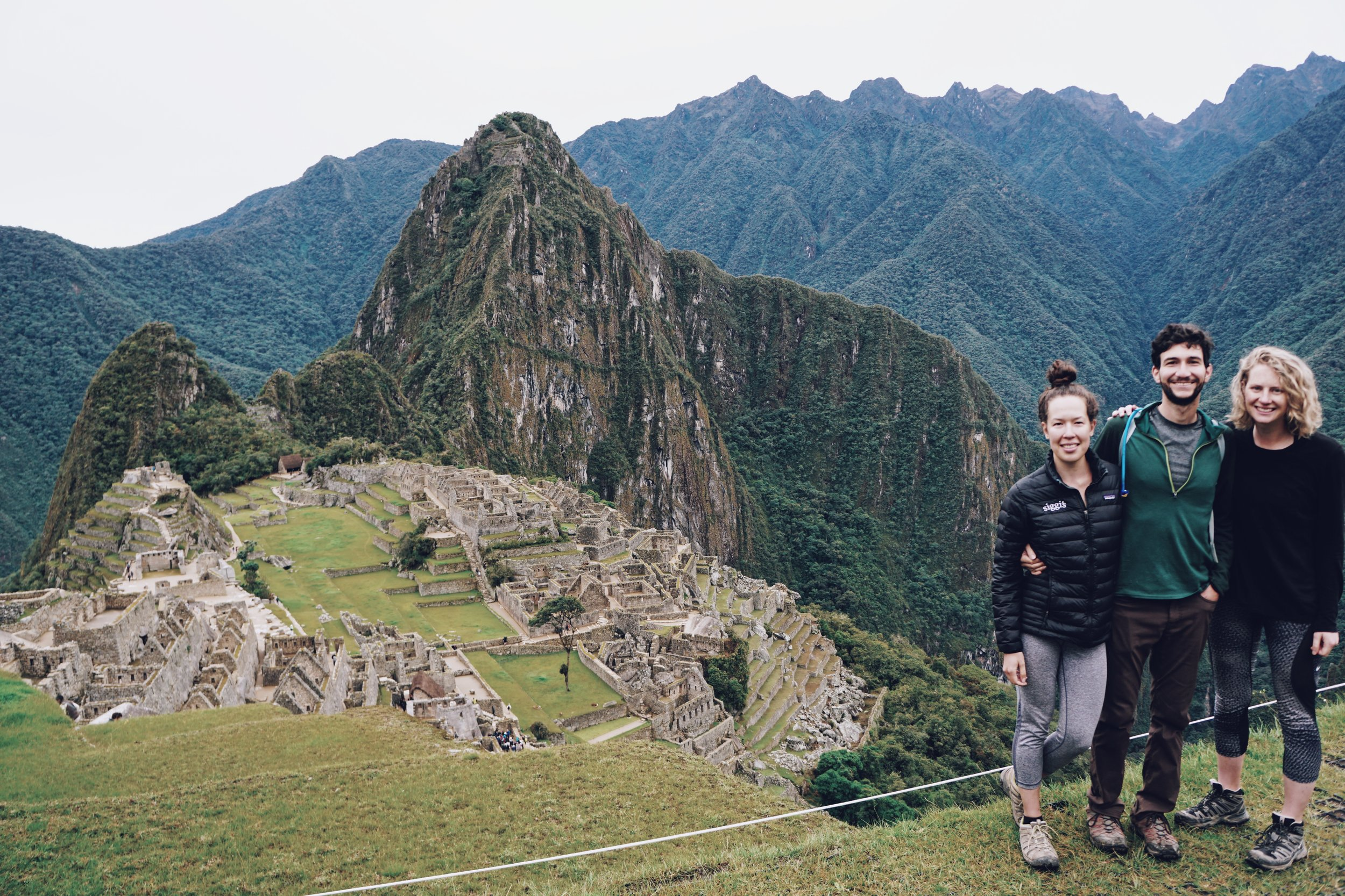 We made it! The final climb to visit Machu Picchu.