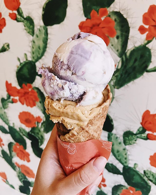 it's been a minute since i last posted about ice cream (or anything really 😅) but credit due where credit deserved: @frankieandjos is worth the paycheck 🤑🍦 berries and fermented cream + caramel crunch w/ chips — and it's all vegan ! . ps. am making a conscious effort to try and post more now i'm settled, and while it won't be as much travel (because full-time job / adulting etc.) it will be: hiking, seattle, pnw, and dog. i missed this ! great chat.