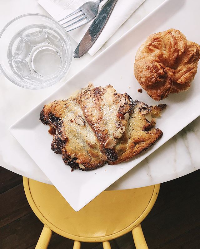 you had me at banana chocolate croissant, @bpatisserie ✨
