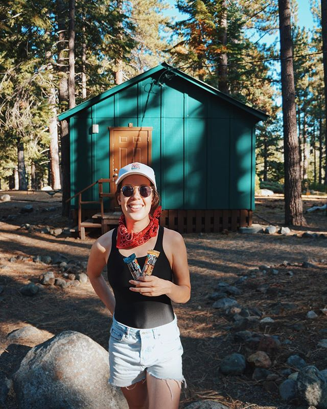 "this weekend i'm at a camp in Tahoe for a wedding, and i'm FINALLY able to live out all my Parent Trap realities!!! so as background, we don't have ""summer camp"" in australia, so for me this basically feels like a scene out of a US teen movie (i'm sure my foreigners can relate!). . on the agenda: kayaking, archery, yoga, and hiking. that's about as close to a perfect wedding as i can imagine 🛶 . we packed a ton of snacks since it's pretty remote, and these @kindsnacks dark chocolate nuts + sea salt and caramel almond sea salt (#ad) came in handy after an hour on the lake (see stories for who did all the paddling 😅). #BeKindToYourself #BeKindToYourMatt  #KINDcollective"