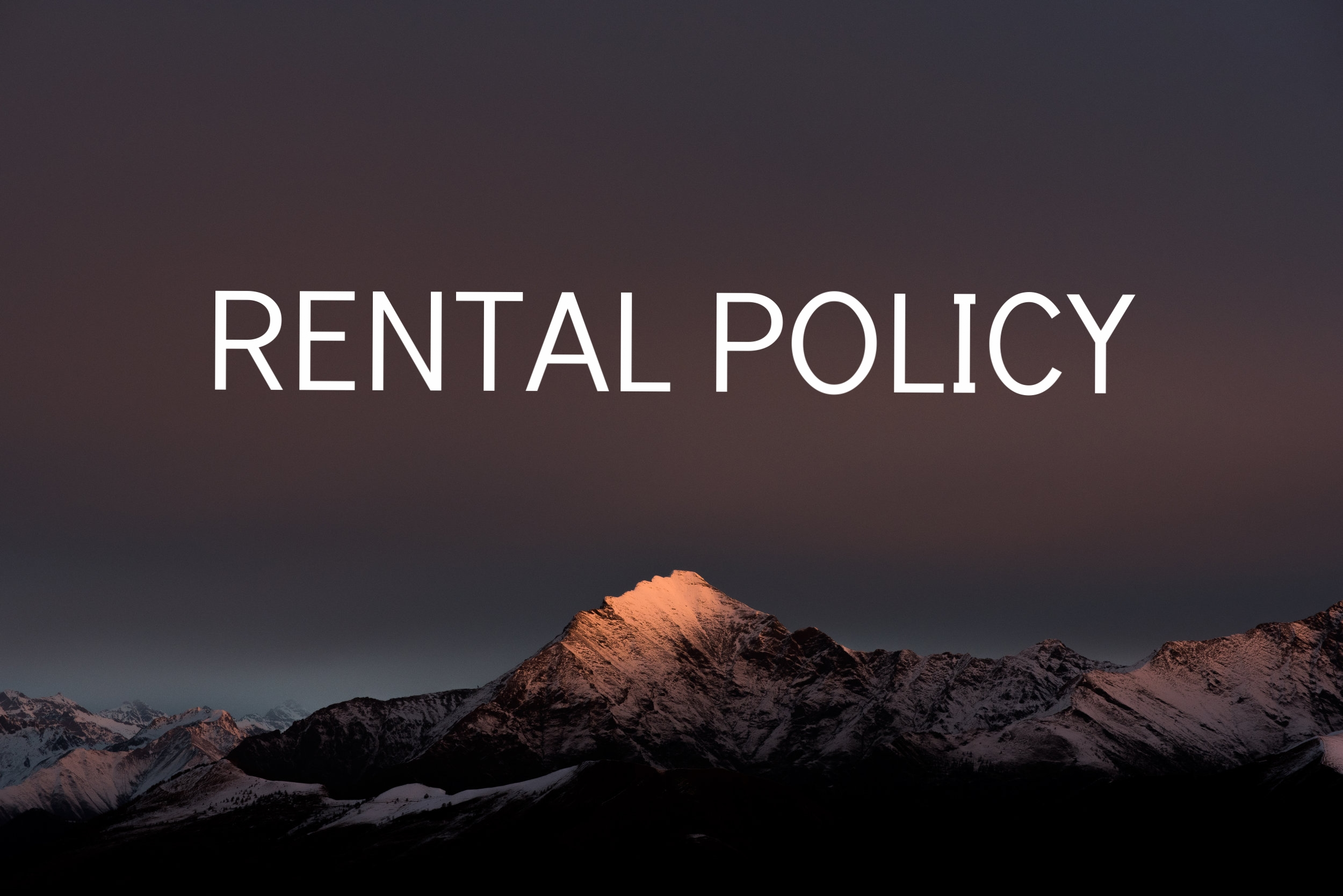 crockery rental policy