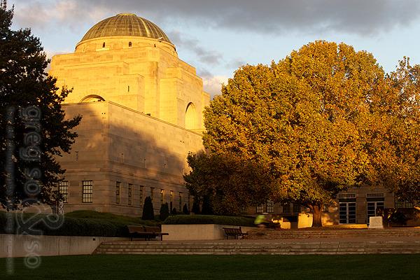 War Memorial In Sunset