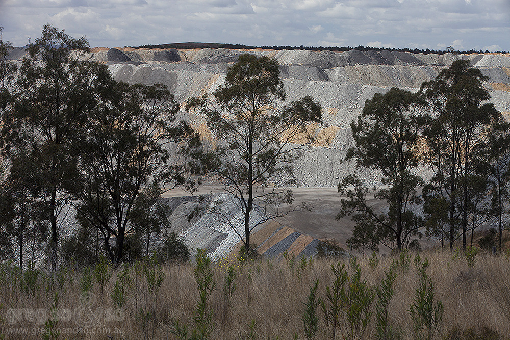 Mt.Thorley Mine NSW, partially hidden by trees