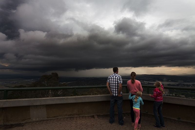 Severe Storm View from Mt Ainslie