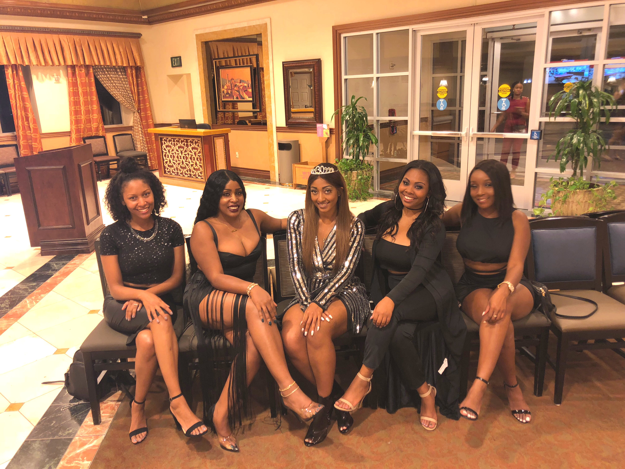 Dressed in all BLACK for Cola's death to her 20s celebration.