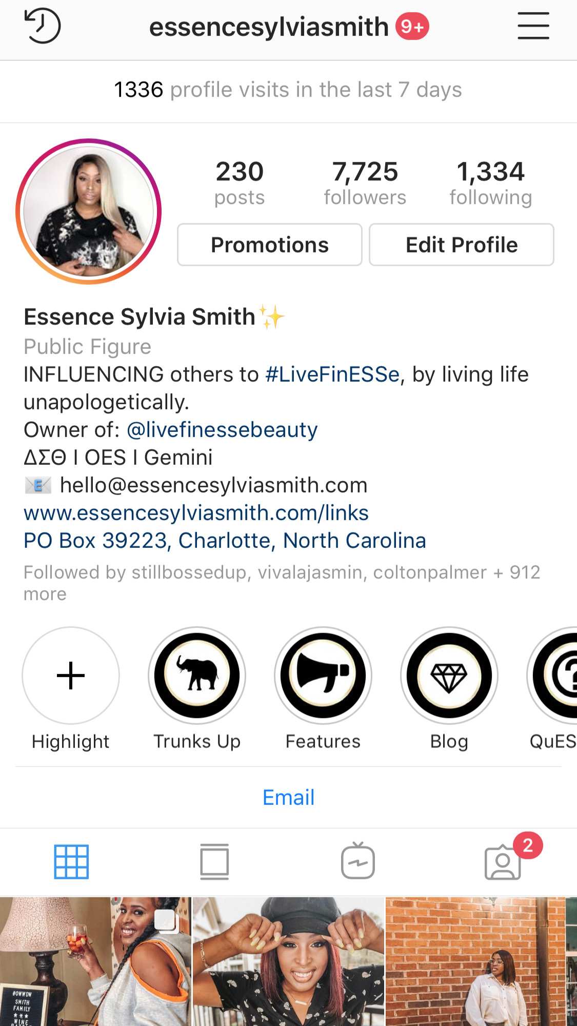 Follow me on Instagram  @essencesylviasmith !