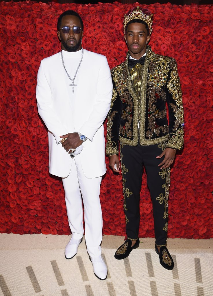 Image Source:    Getty / Dimitrios Kambouris/MG18    Diddy & Christian Combs, aka King Combs, at the 2018 Met Gala