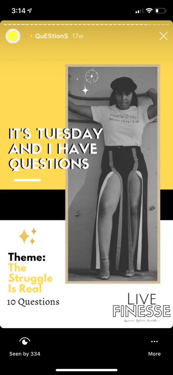 Tuesday Questions- Live Finesse