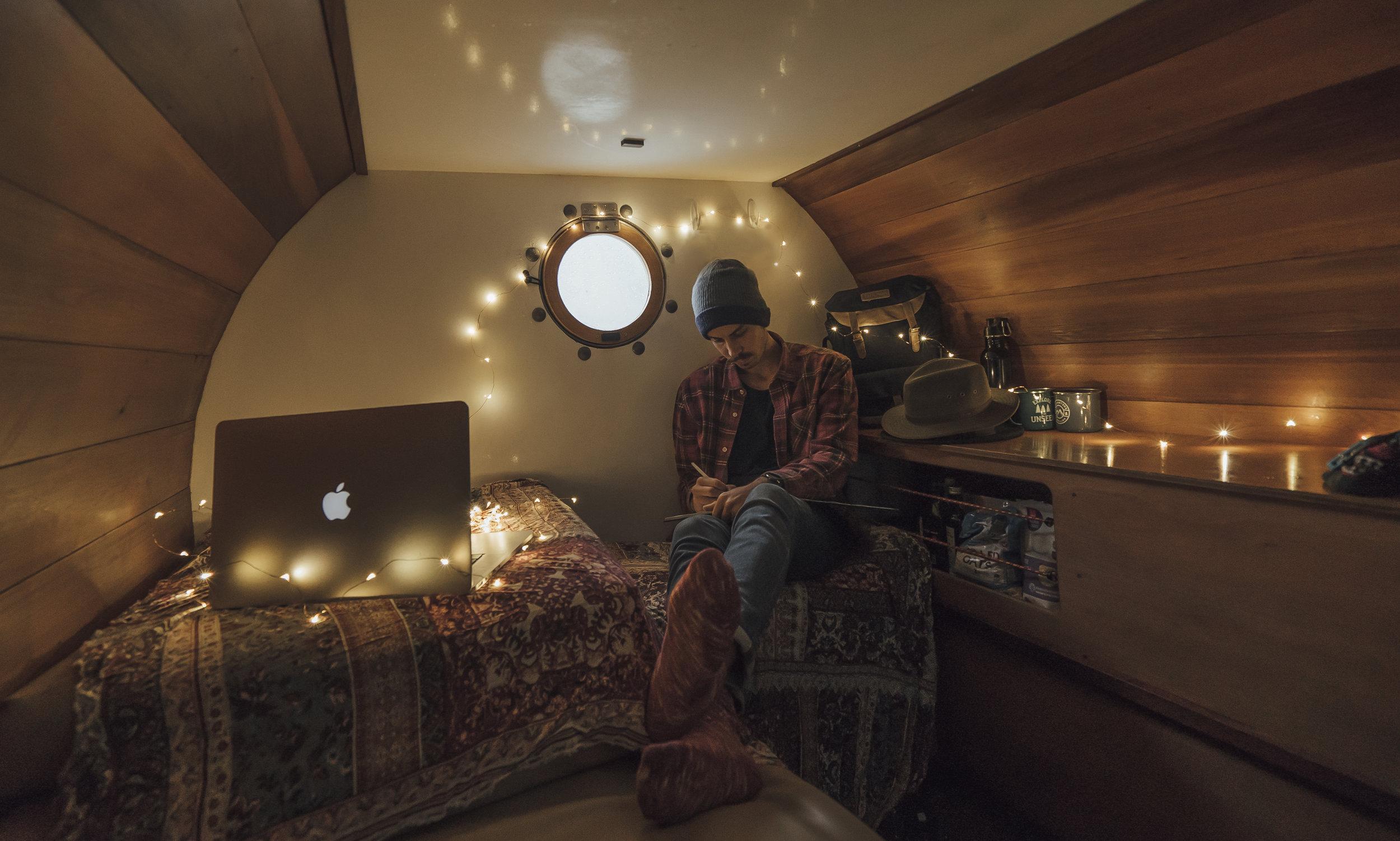 Inside the Barrel Camper, Campervan.jpg
