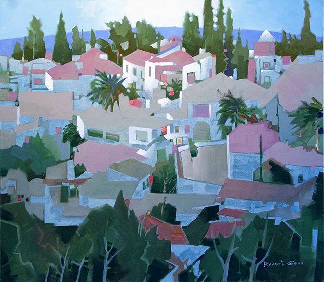 Linares de la Sierra, 30 x 34 inches, acrylic on canvas, 1999 @ch_gallery #robertgenn #canadianart