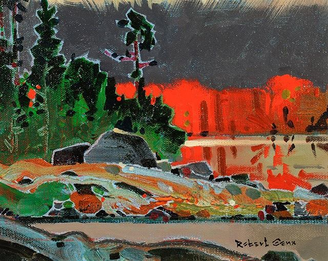 Bright Offskip, 8 x 10 inches, acrylic on canvas board @westendgallery #robertgenn #canadianart