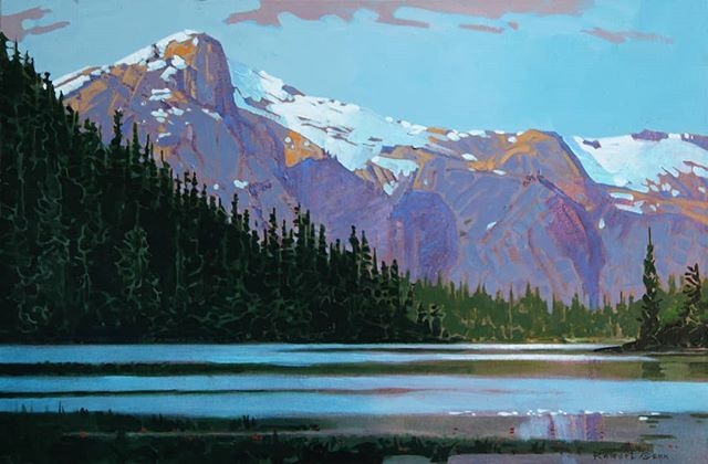 Late Afternoon, McCannell Lake (1998) 20 x 30 inches, acrylic on canvas @whiterockgallery #robertgenn #canadianart