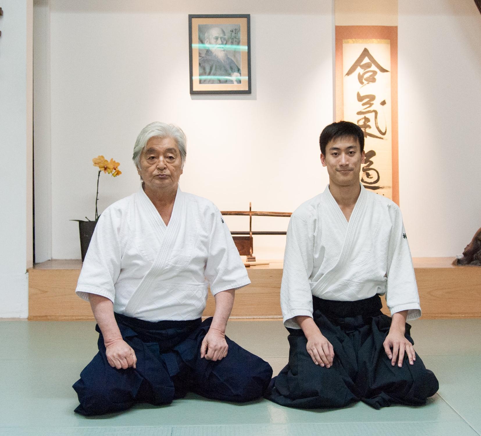 山田嘉光先生和Ed Lin.於紐約合氣會(New York Aikikai)