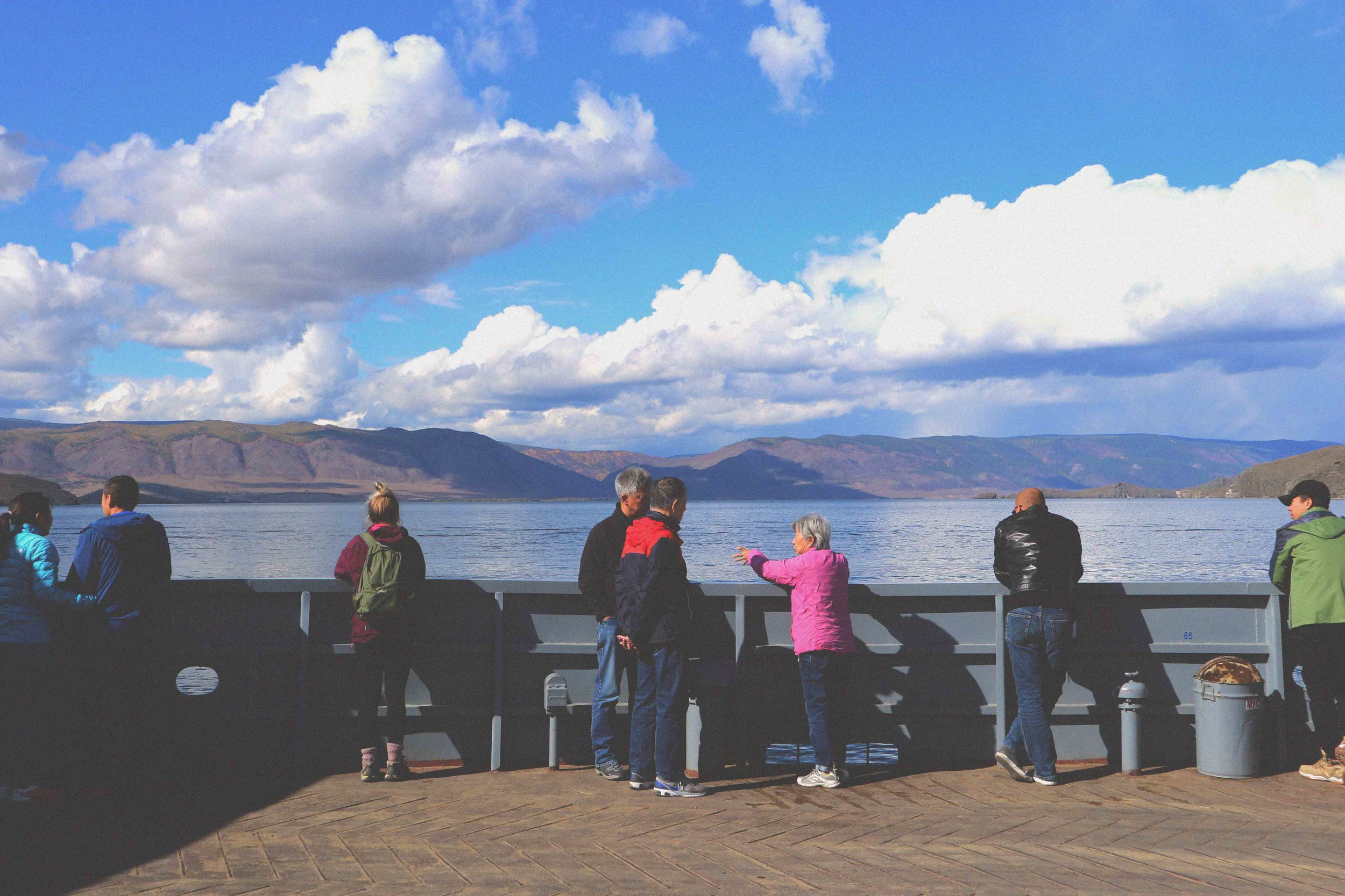 Travelling across Baikal by ferry