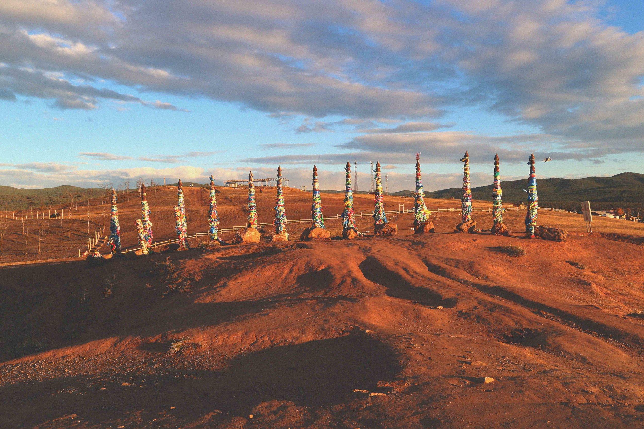 The Shaman poles