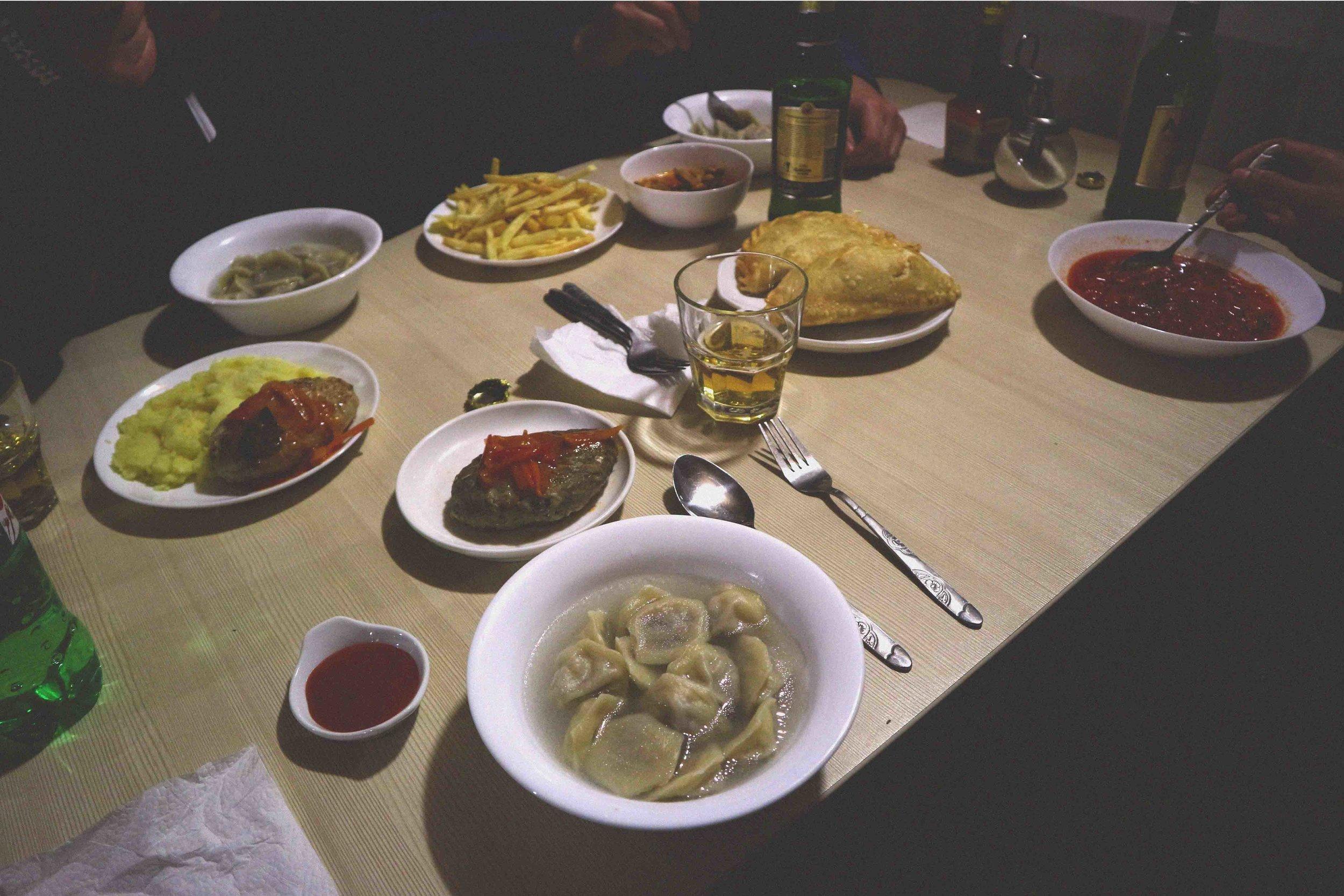 Local food on lake Baikal