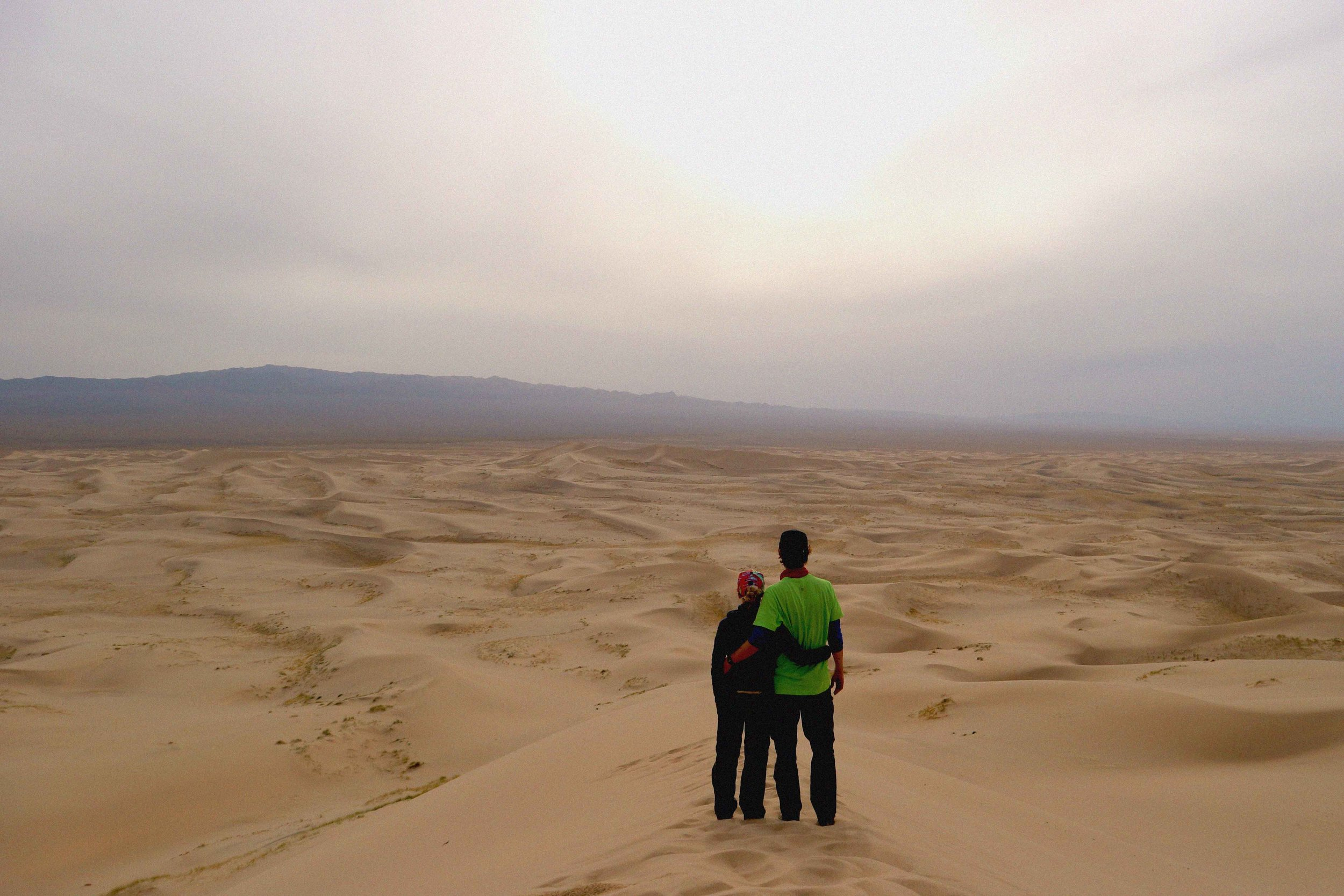 Sight seeing at the 180km sand dunes in the Gobi desert
