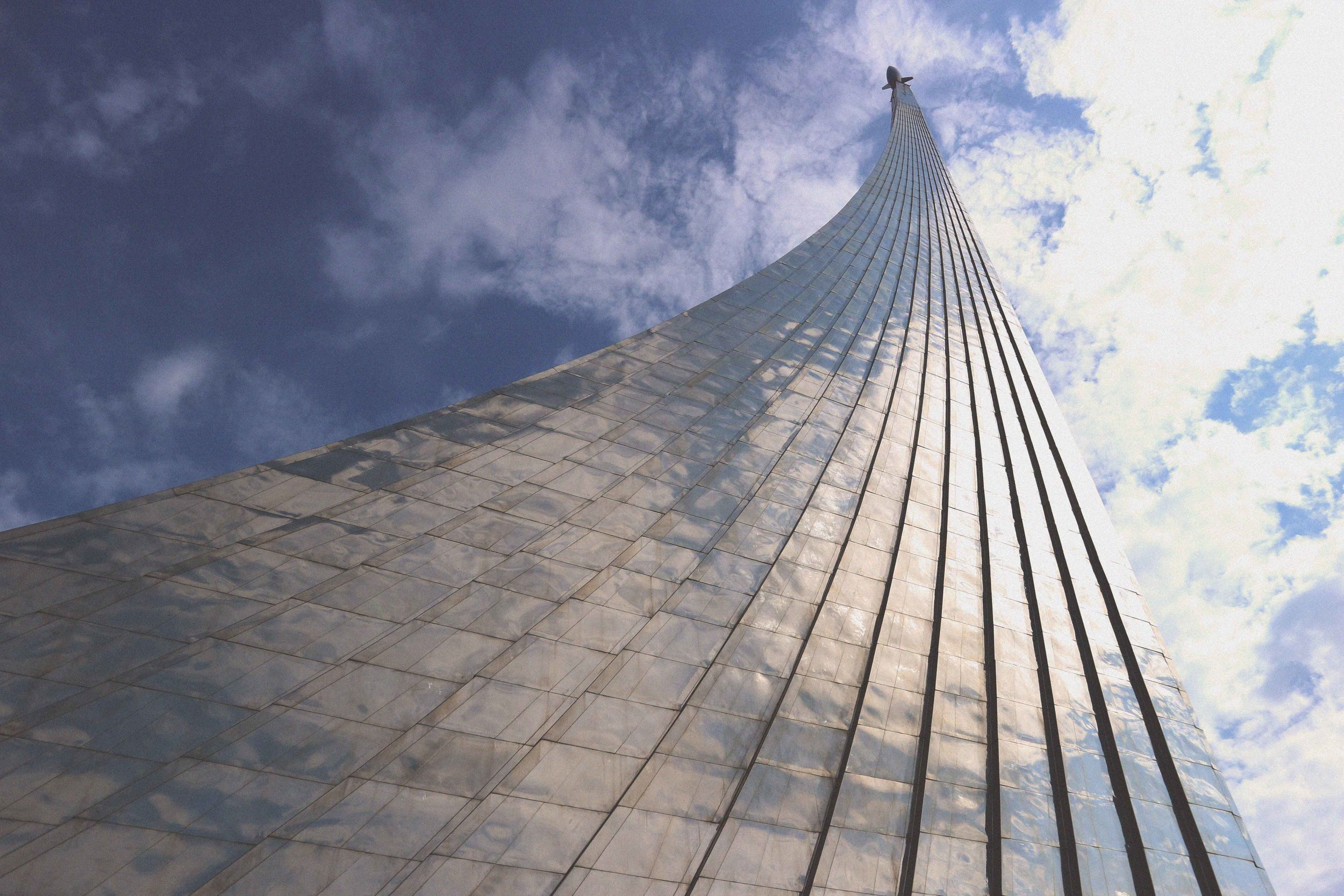 Monument to the conquerors of space in Moscow, Russia