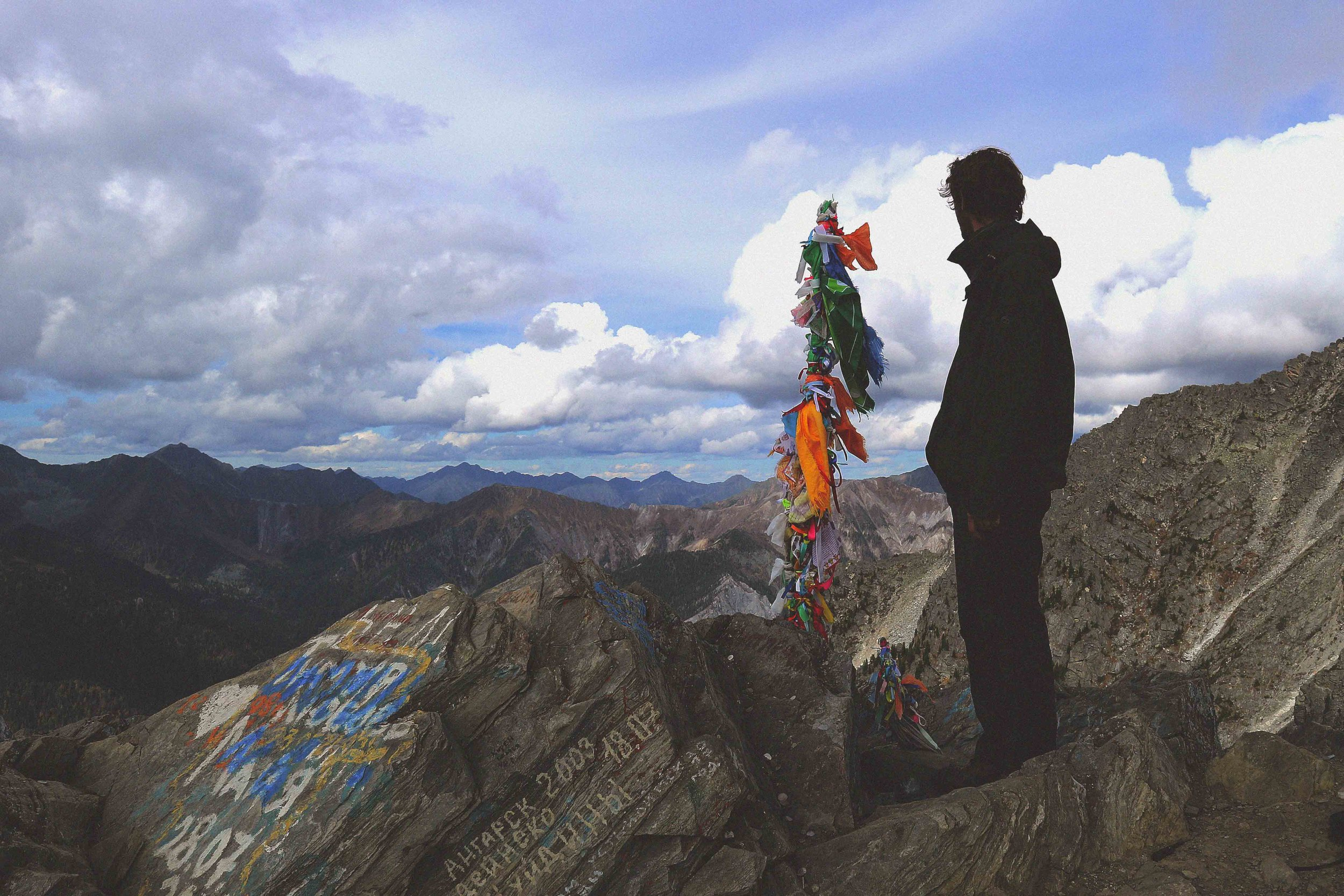 At the summet of Flower Mountain in Arshan, Siberia, Russia
