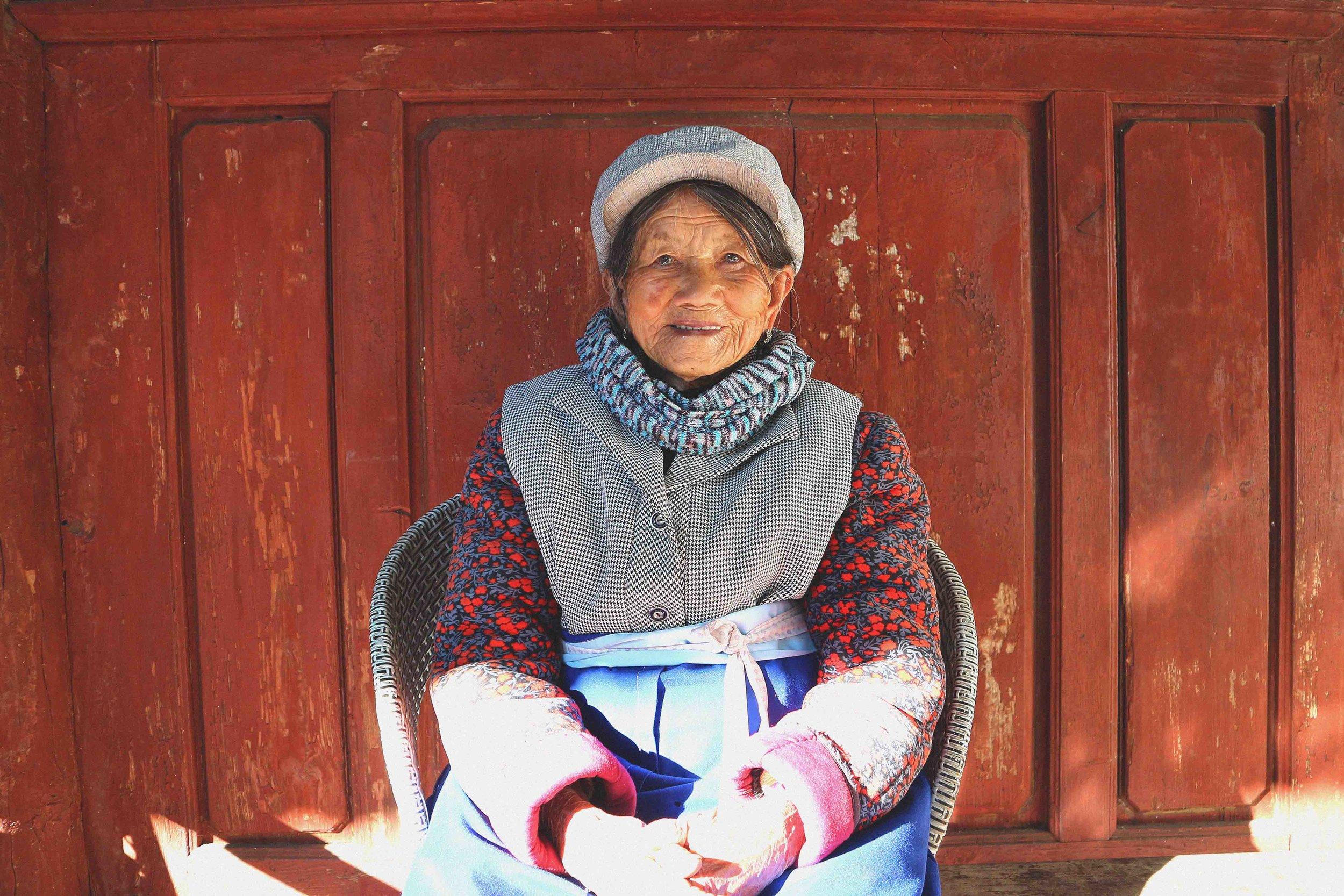 Grandma Lui beaming away