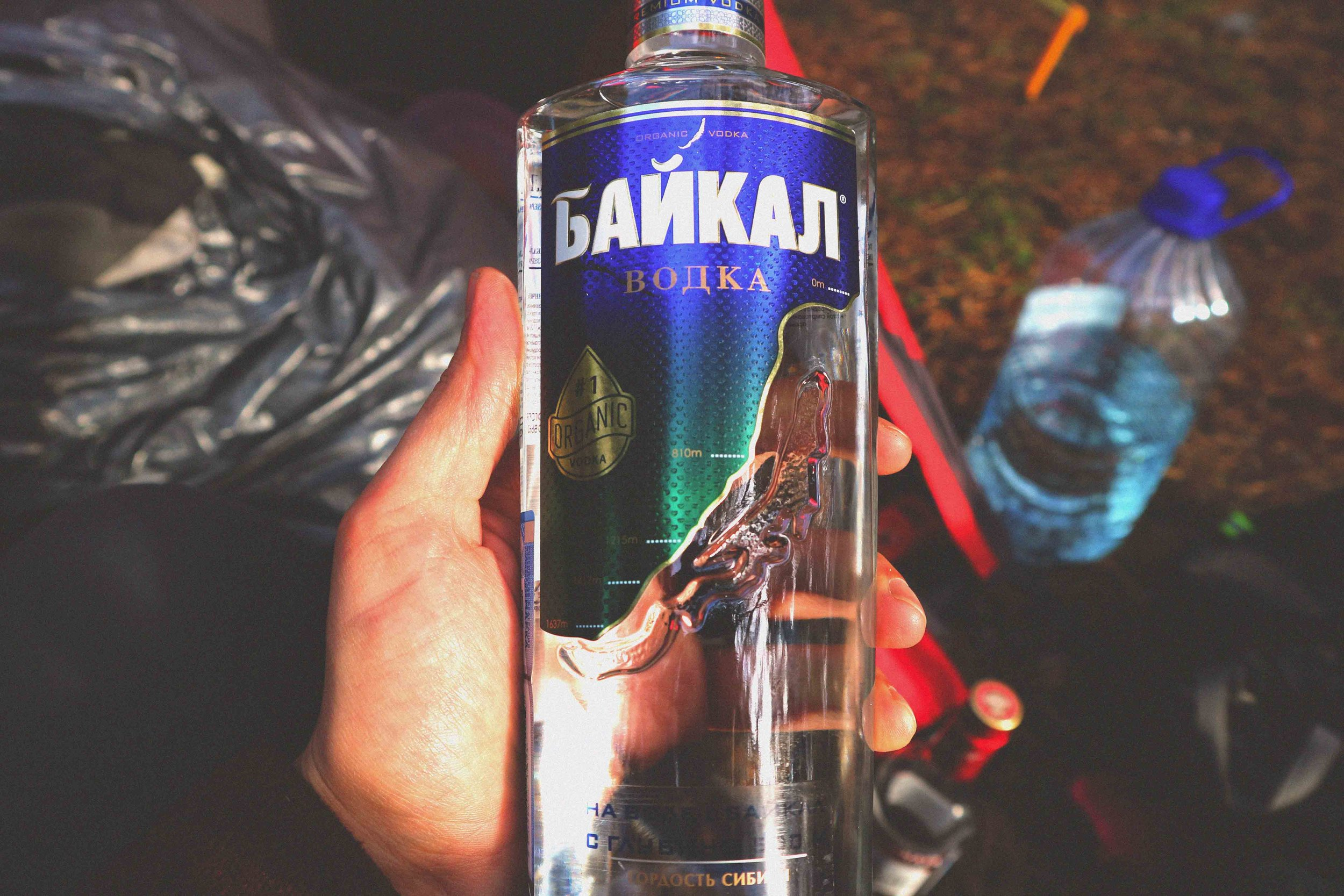 Organic lake Baikal vodka