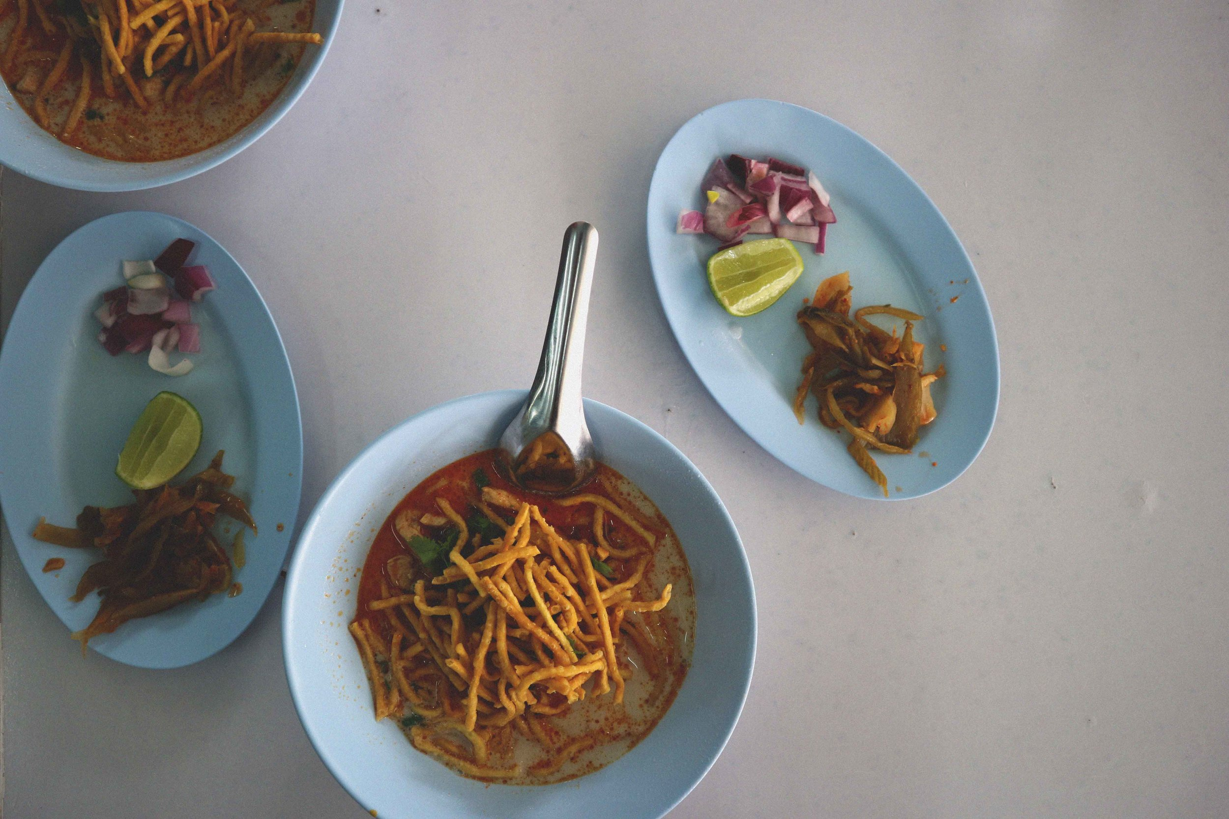 Northern Thailand's Khao Soi - a dish inspired by Burmese cuisine.