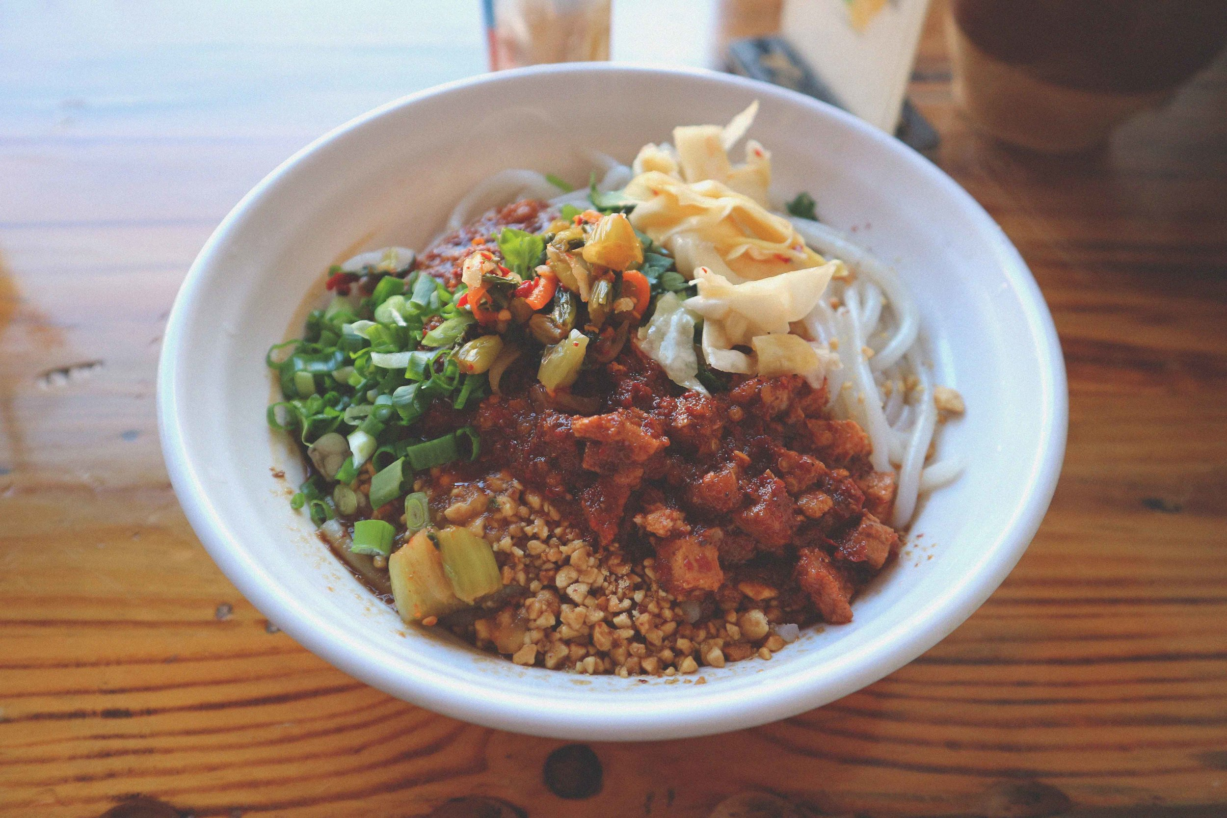 Delicious hand-made rice noodles