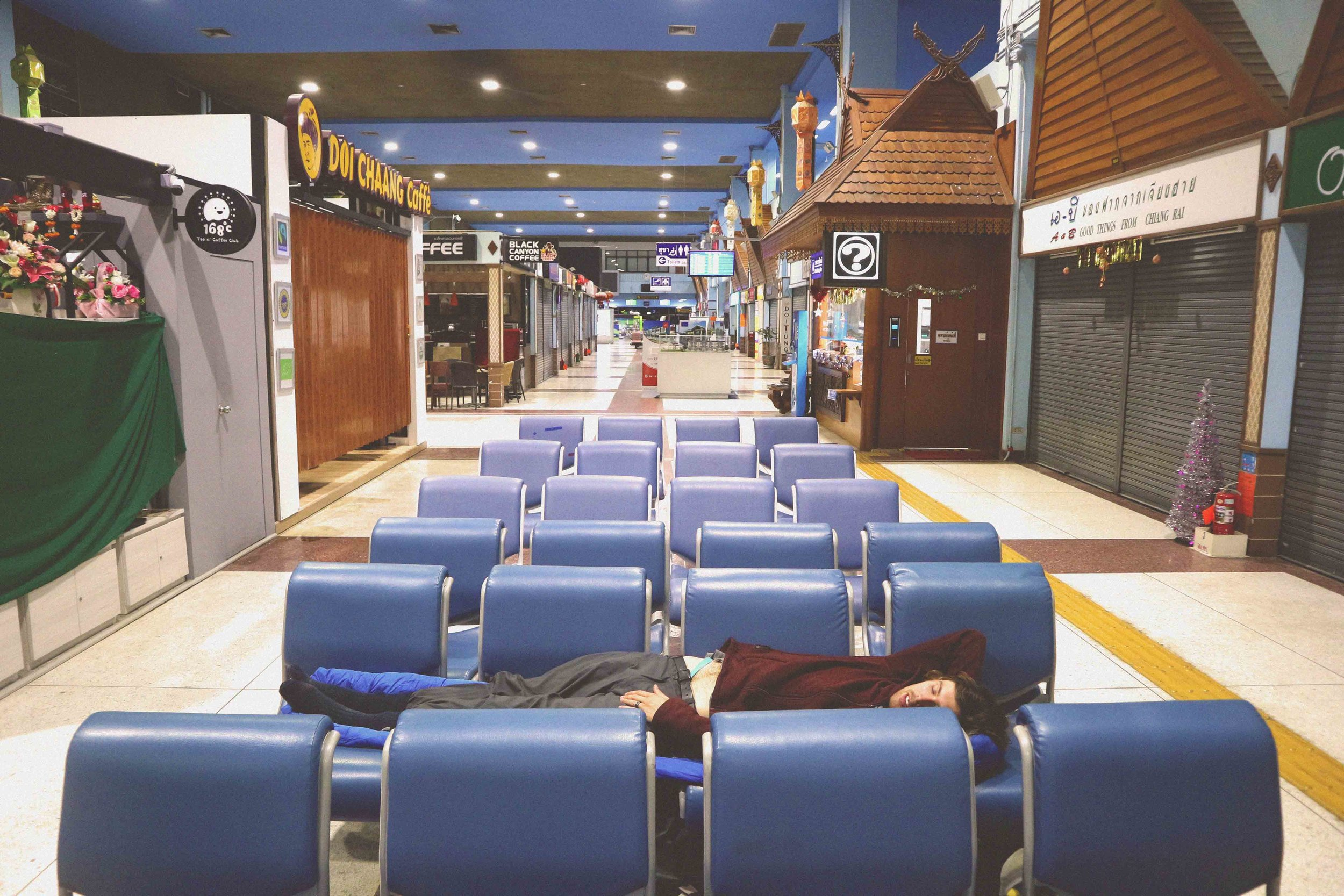 We had the airport to ourselves