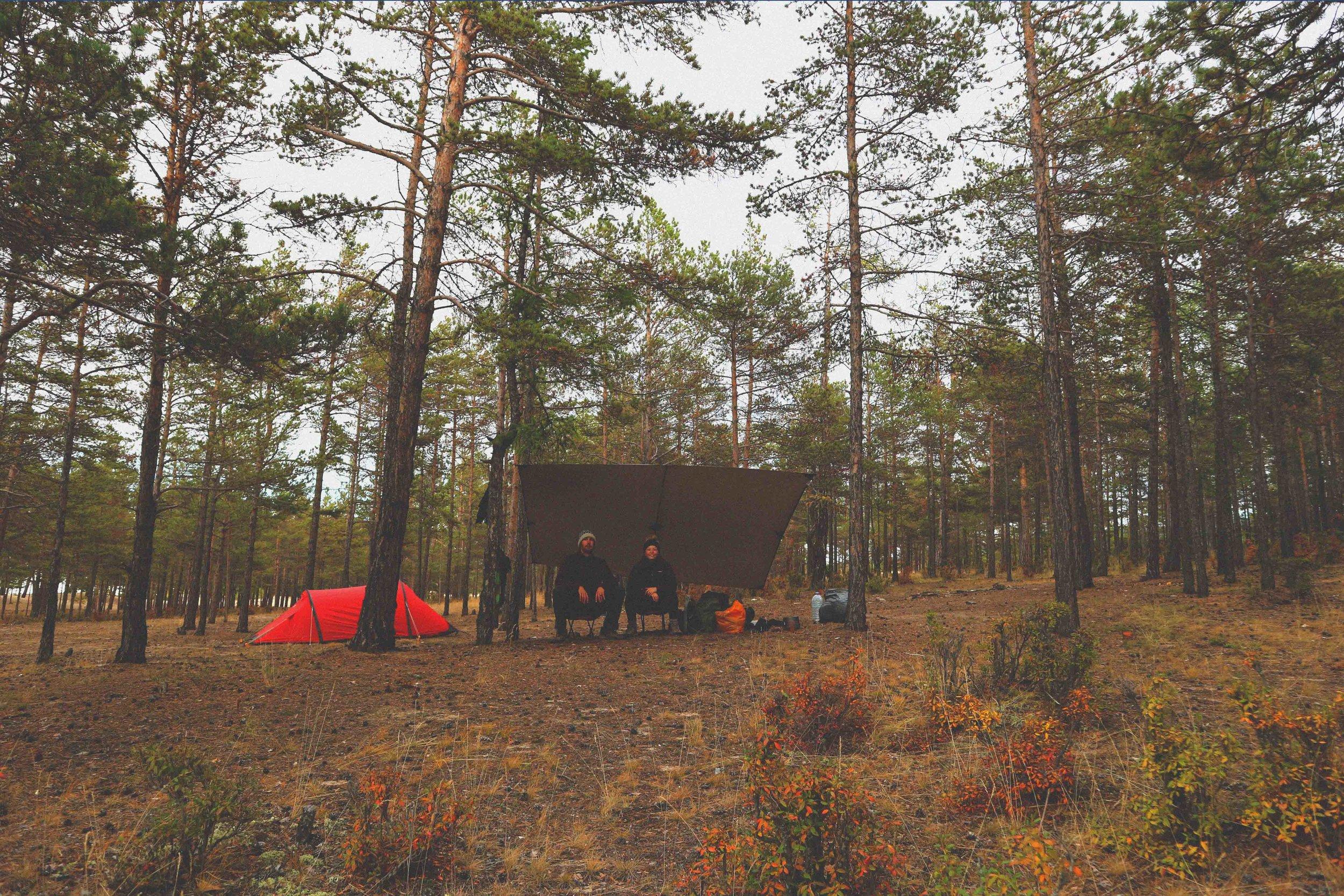 Wild camping on Olkhon Island, Siberia