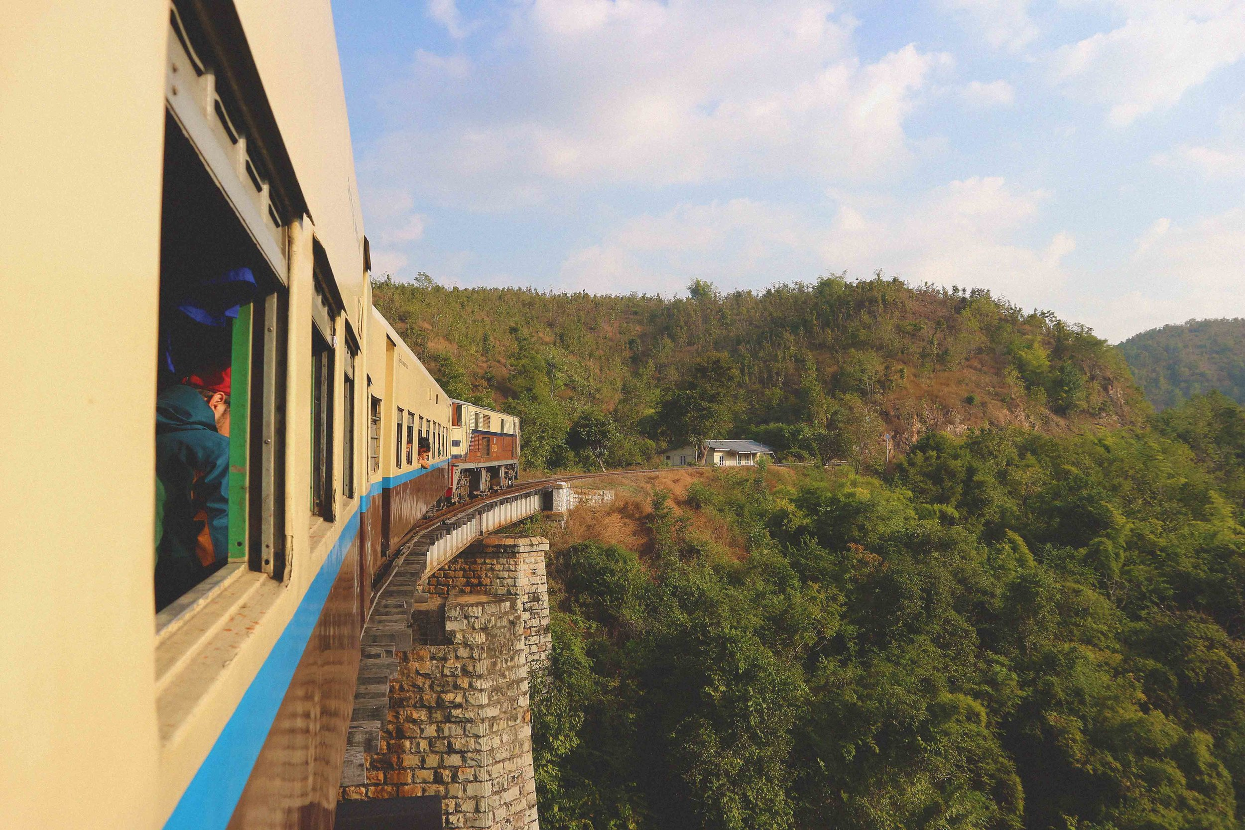 Train from Thazi to Kalaw