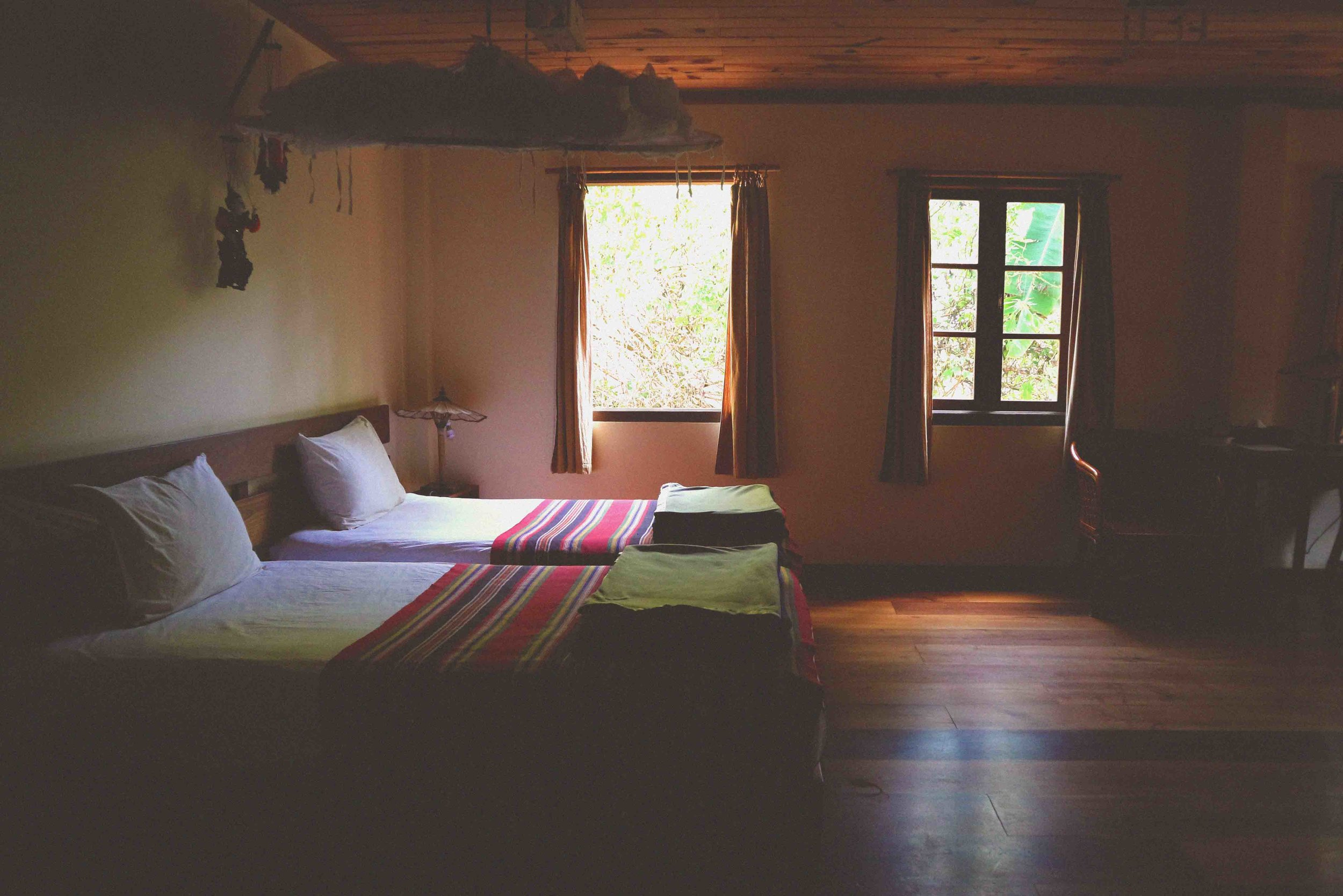 Our beautiful room at Thitaw Lay House
