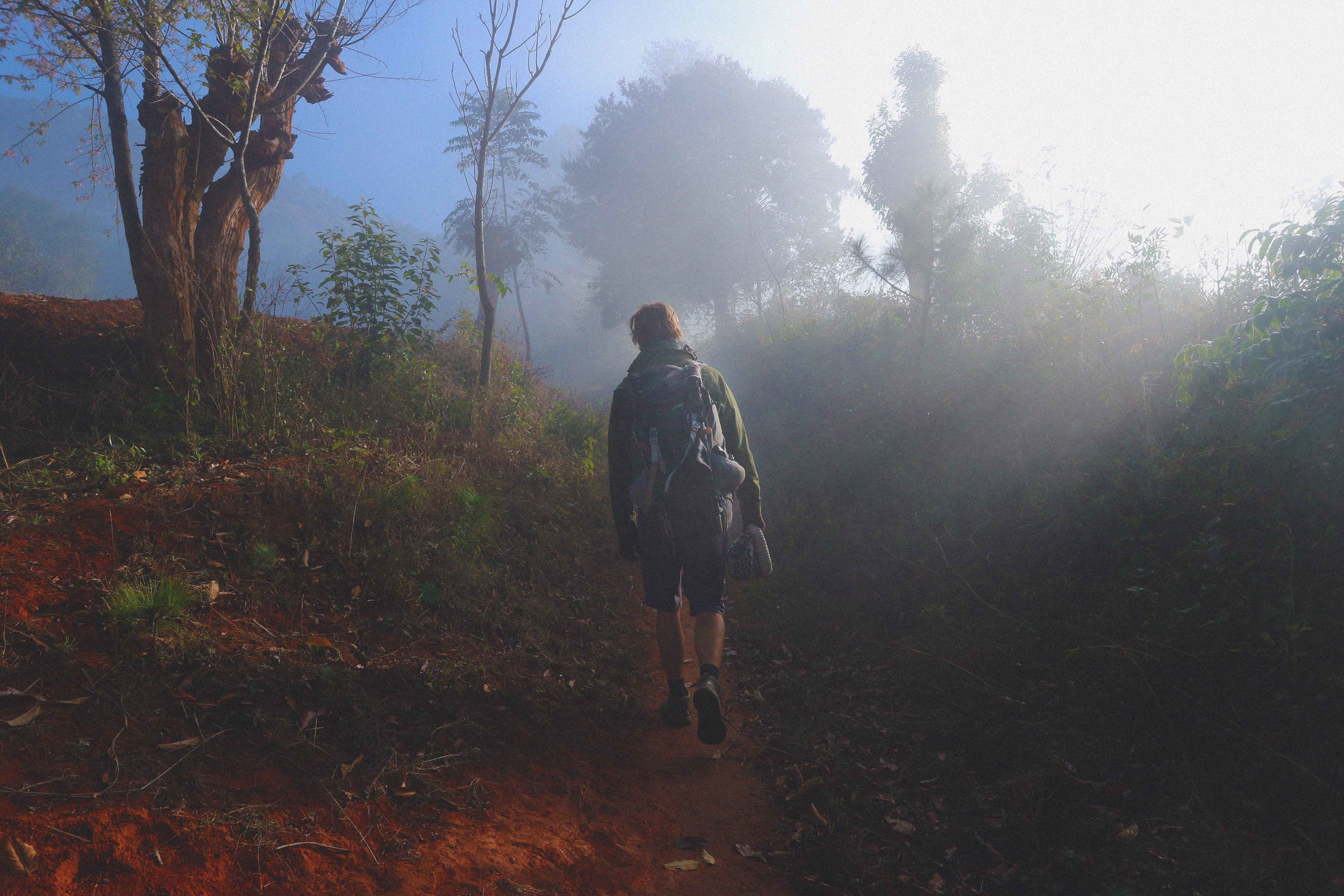 On the 3 day trek from Kalaw to Inle Lake