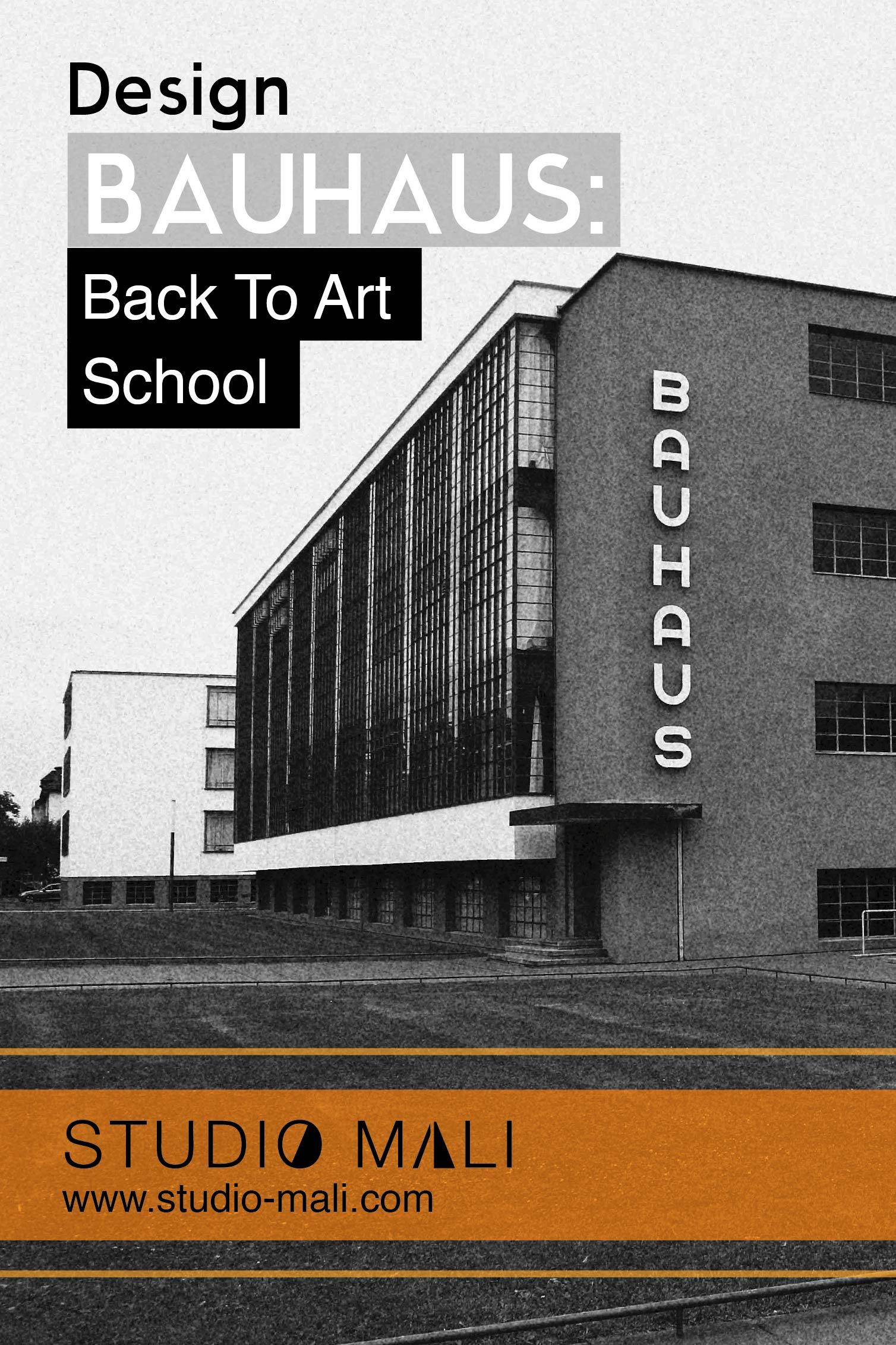 Bauhaus - Back To Art School, by Studio Mali