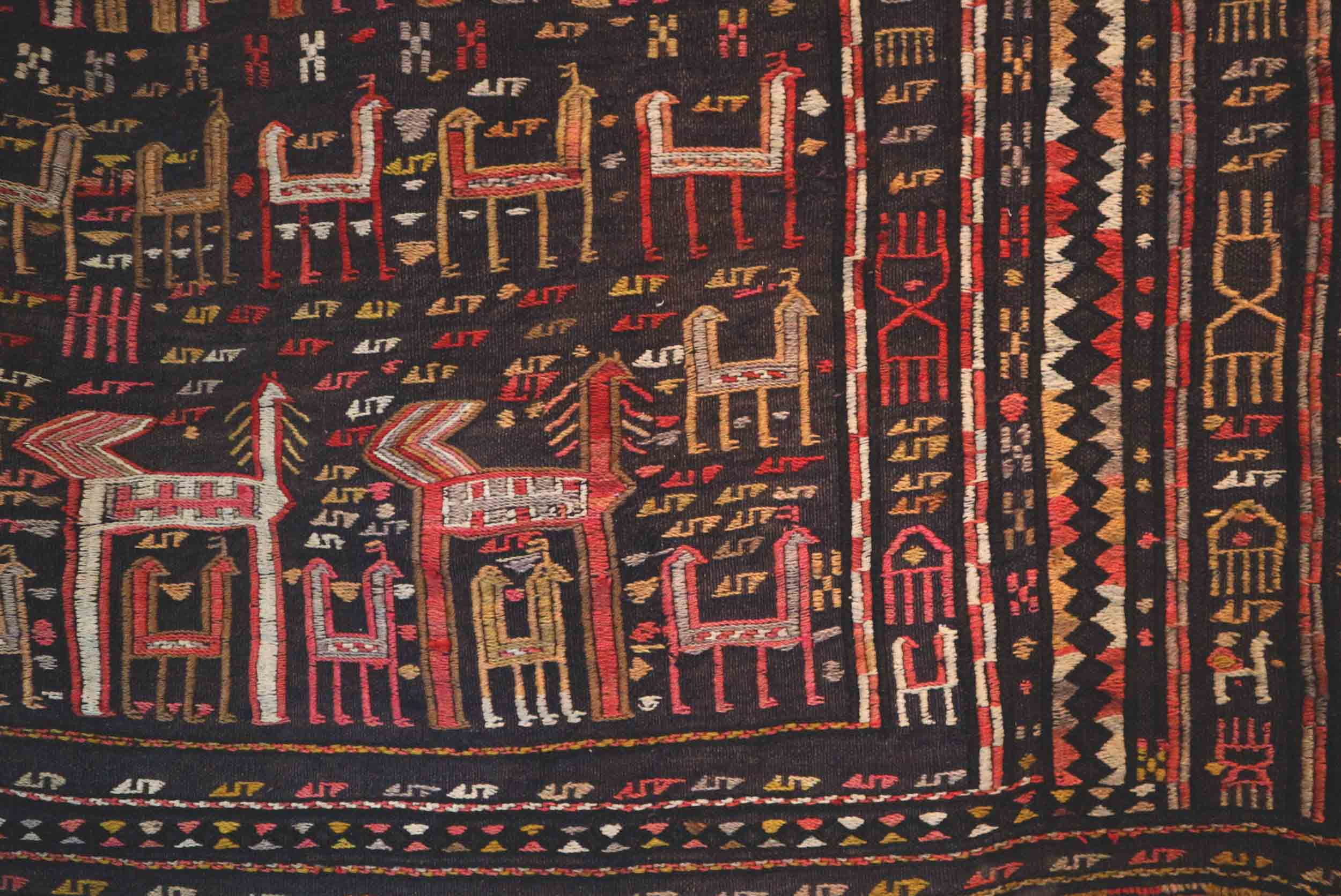 A fun aztec-style carpet in the Centre of Popular Creation
