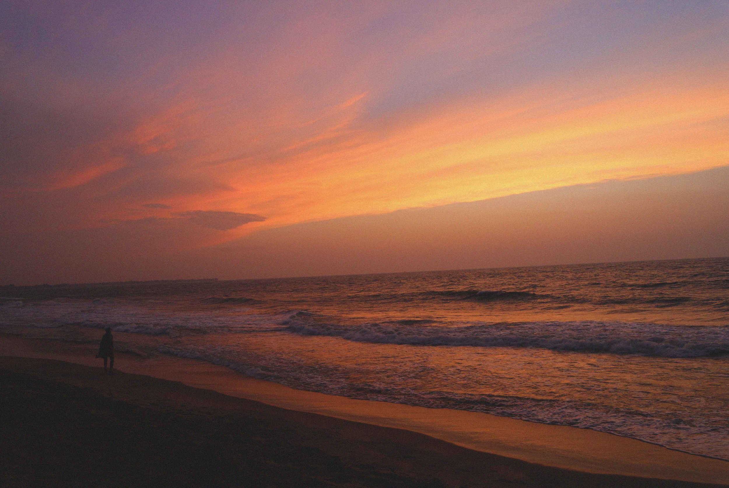 A beautiful sunset at Negombo beach near Colombo