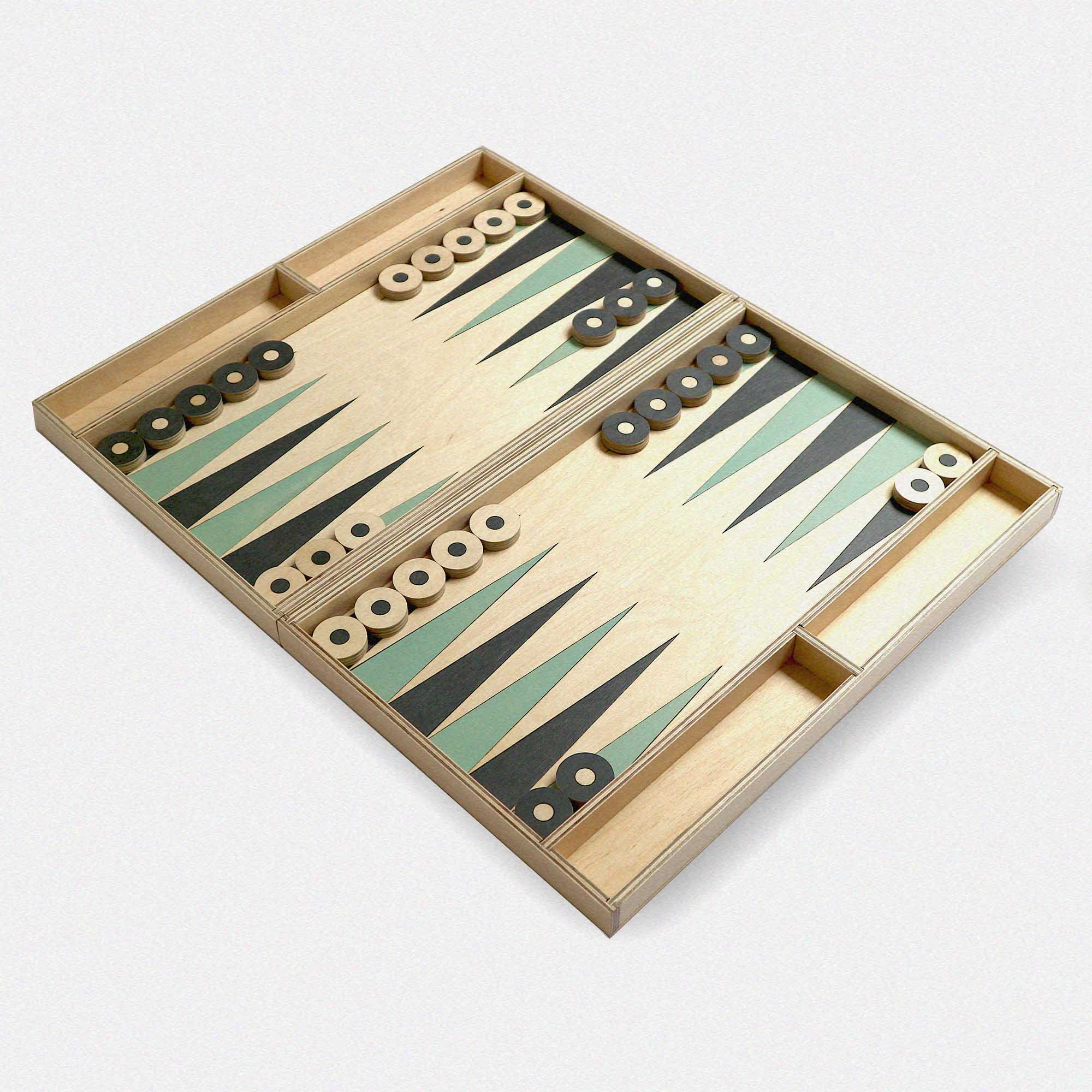 Bespoke Backgammon Game by Studio Mali.  Made In London.