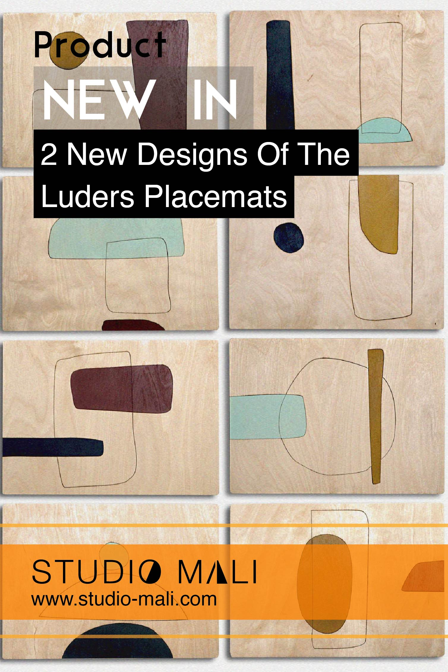 Product - 2 New Designs Of The Luders Placemats, by Studio Mali