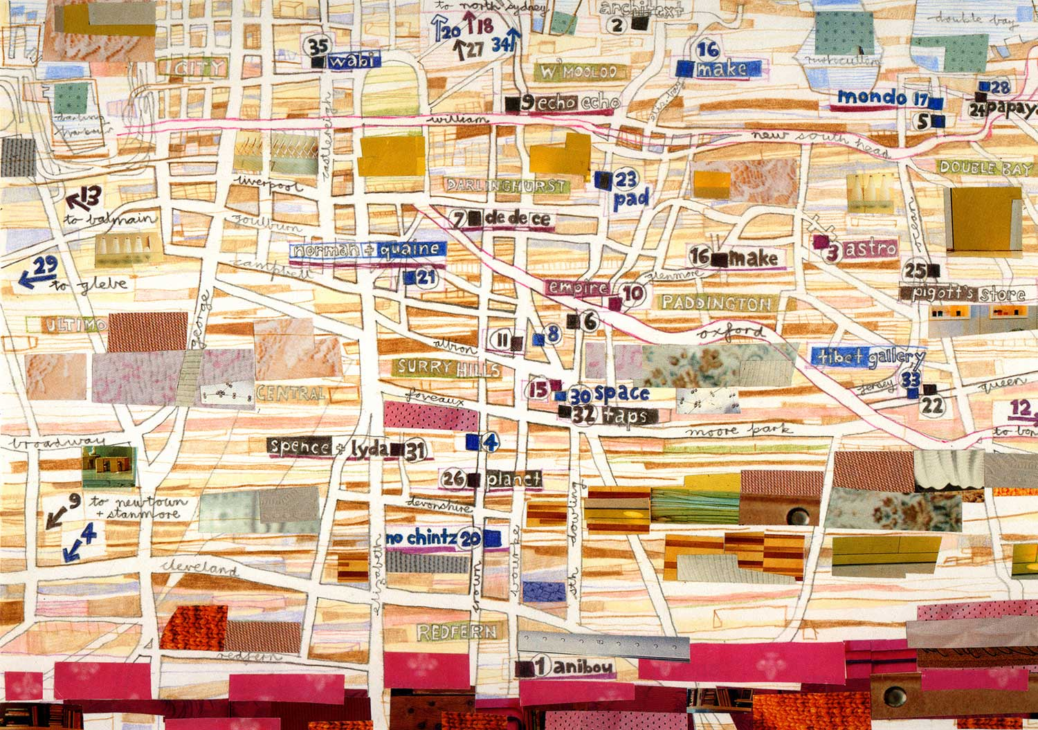 Sydney Design Week 2000 Map