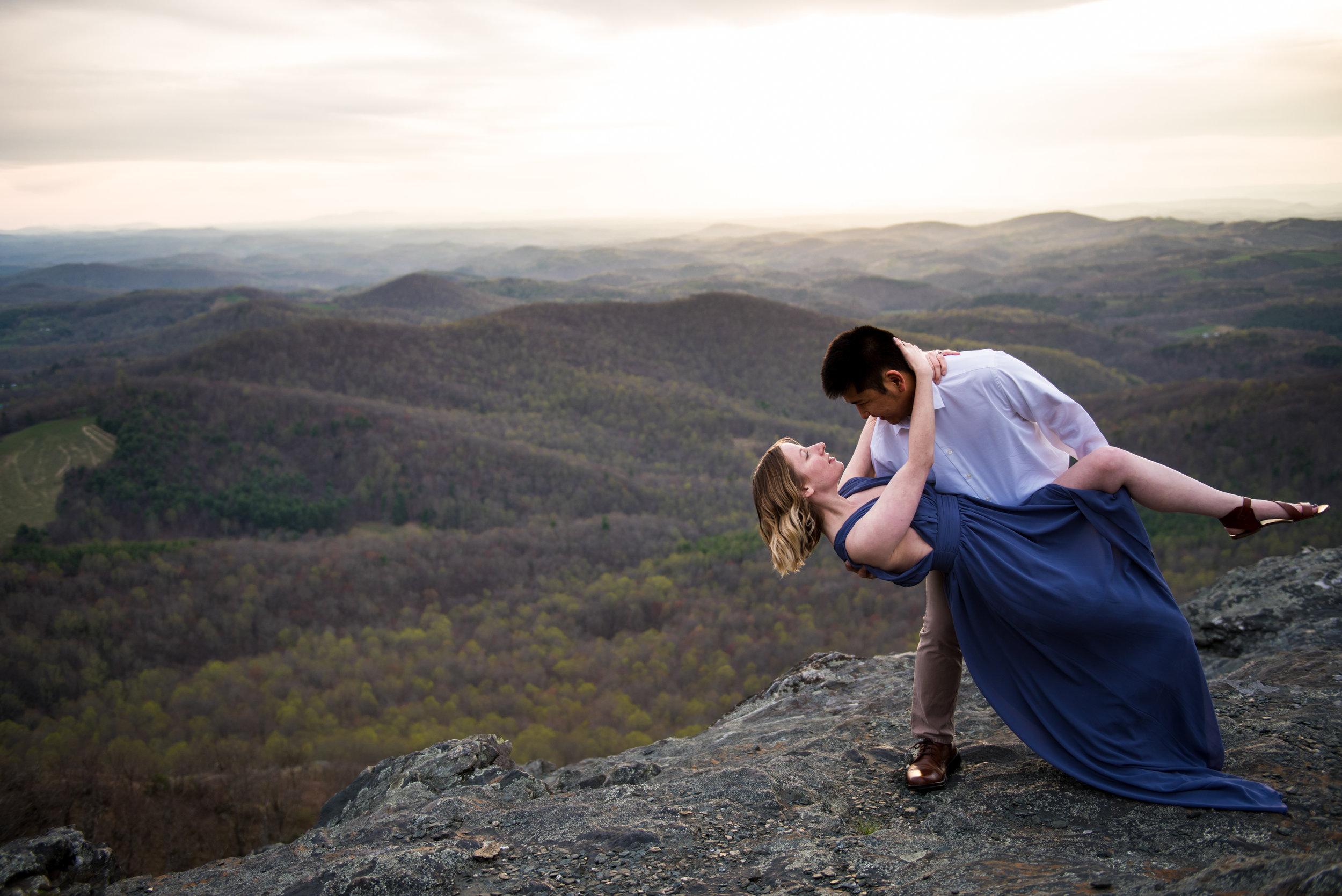 dramatic engagement photo