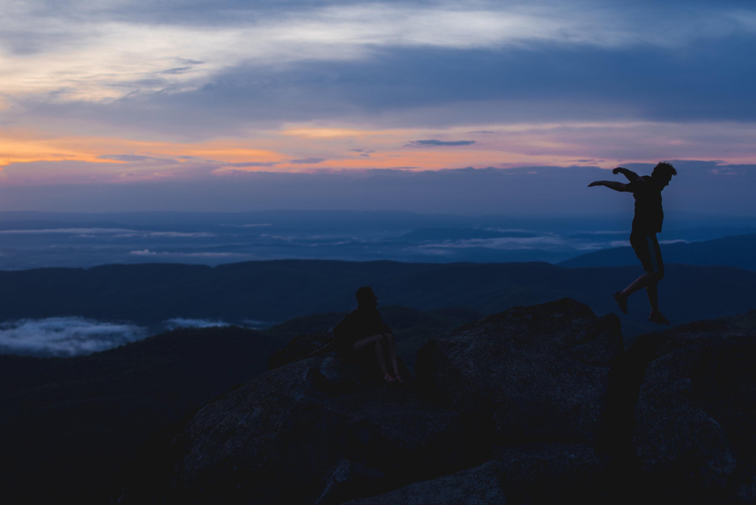 sharp top mountain sunset