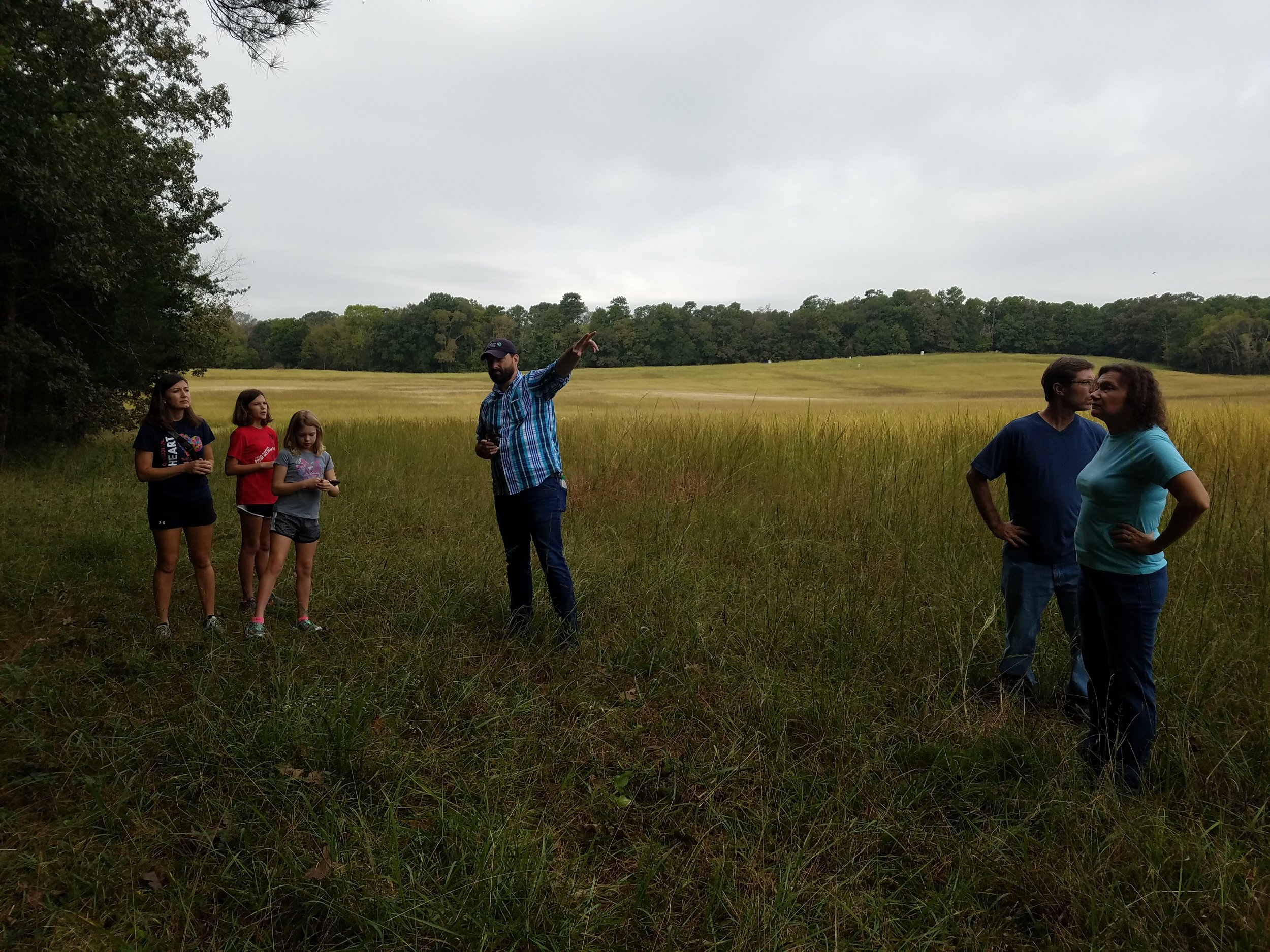 Grassland class with the SGI at the Chickamauga Battlefield with Dr. Dwayne Estes.