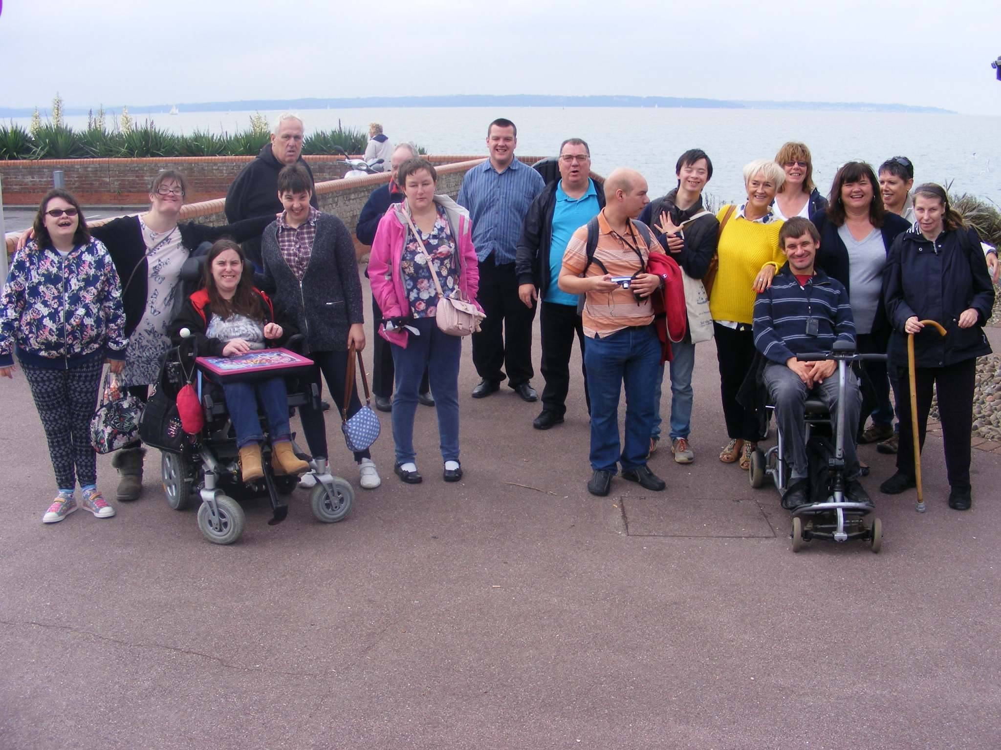 Some of us at the seaside at Lee on Solent.