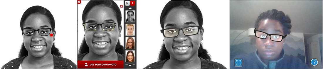 Trying out different sites virtual-try on.
