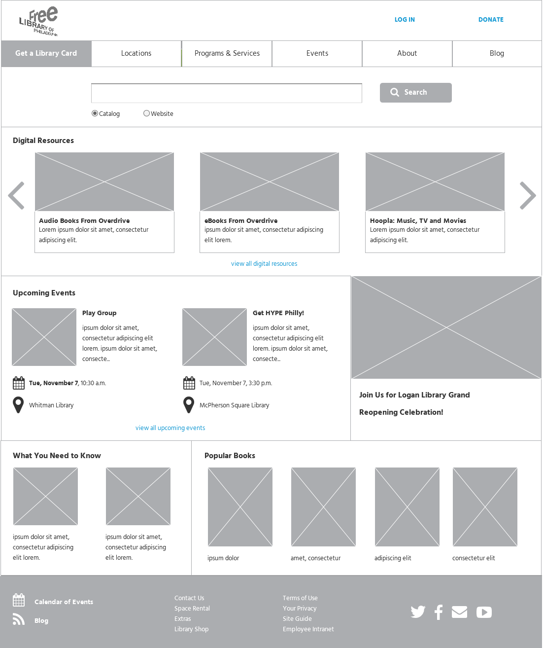 Wireframe Layout Recommendation