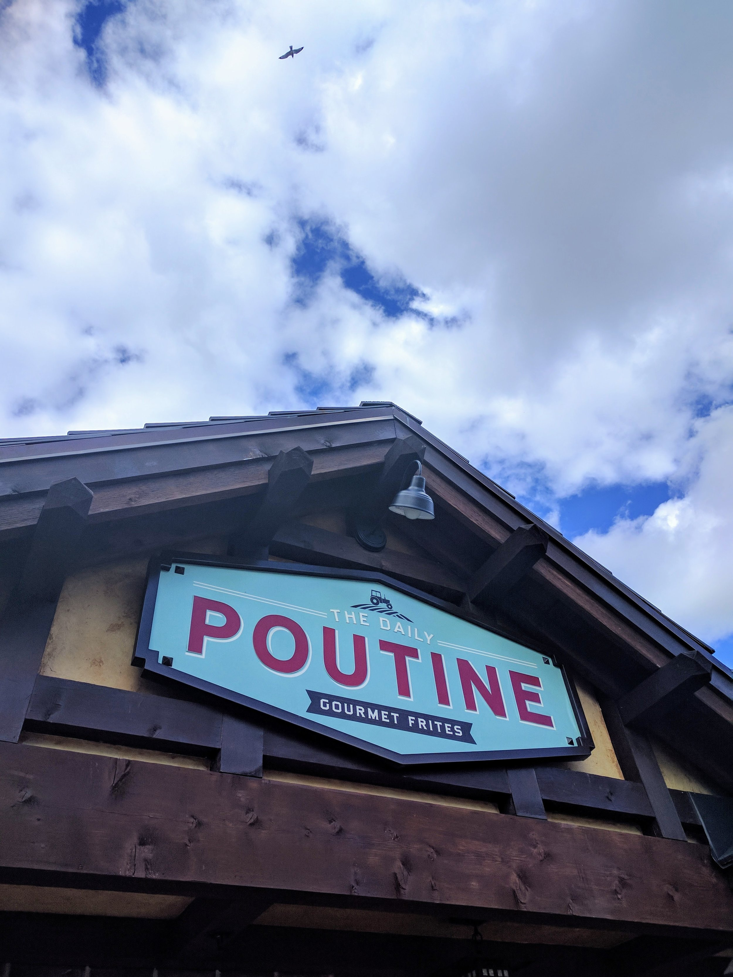 The Daily Poutine is located behind the Lego Store next to World of Disney.