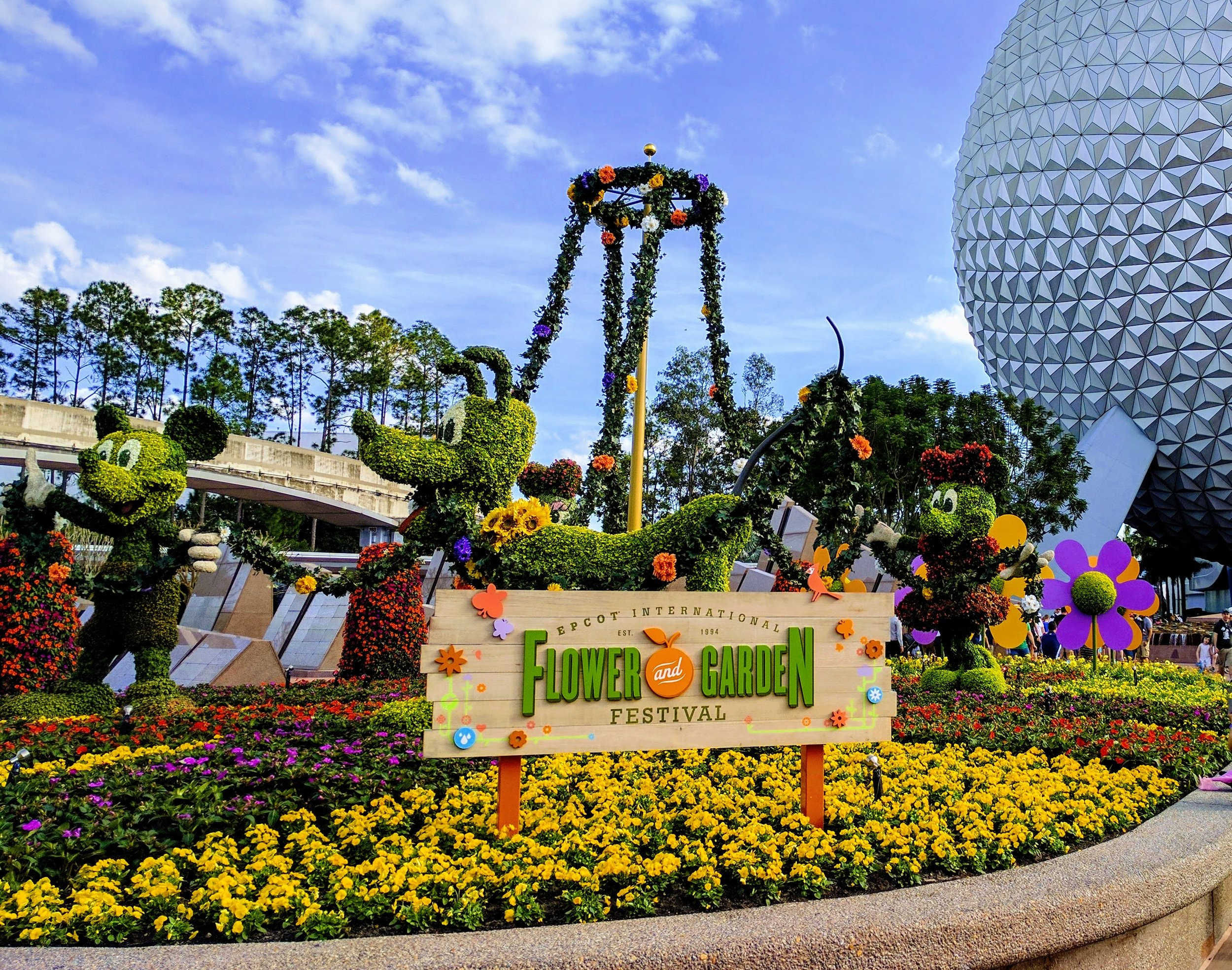 Epcot International Flower and Garden Festival runs from March 1st - May 29th