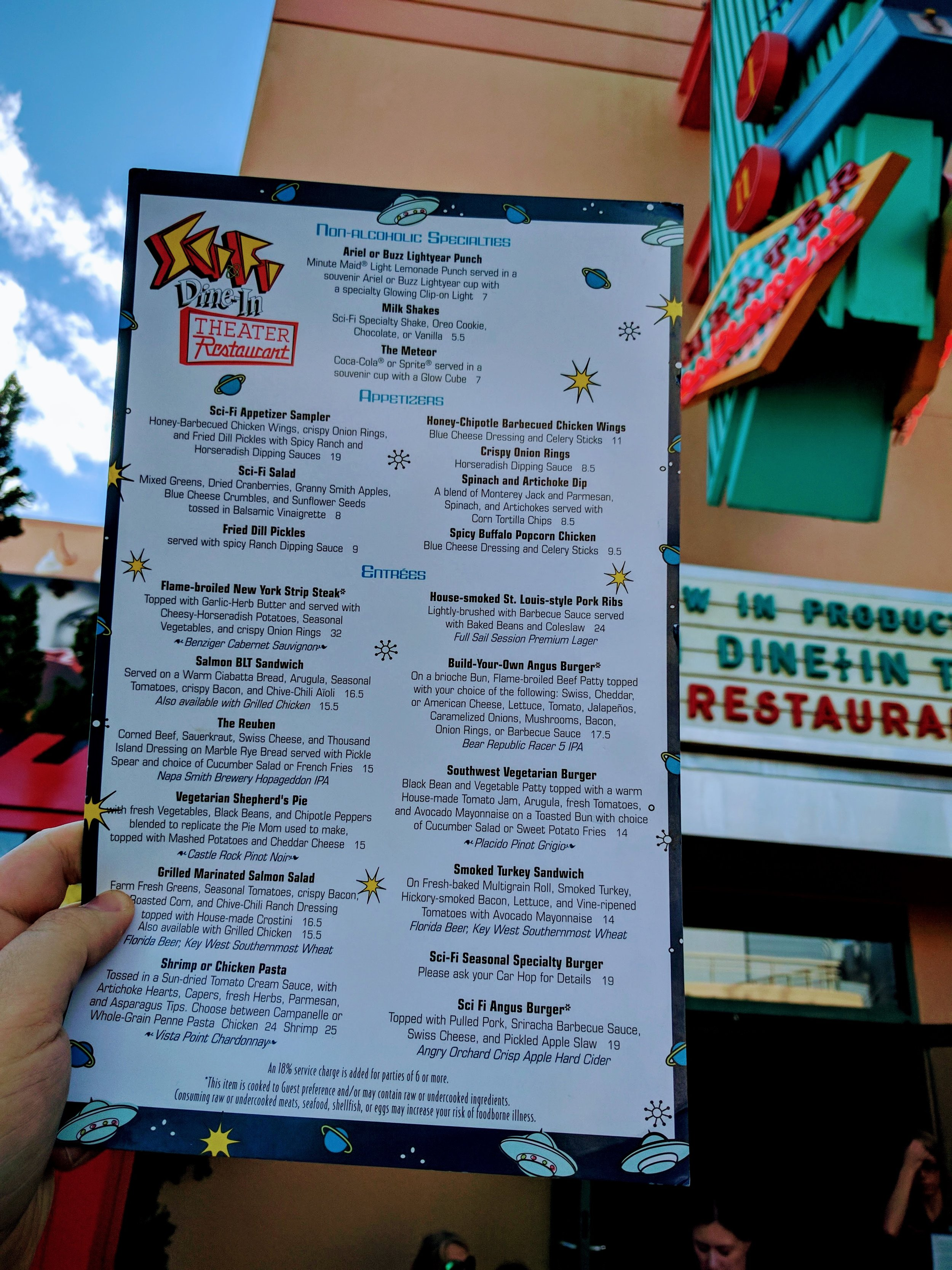 Sci-Fi Dine-In is located in Hollywood Studios between ABC Commissary and Muppets 3D.